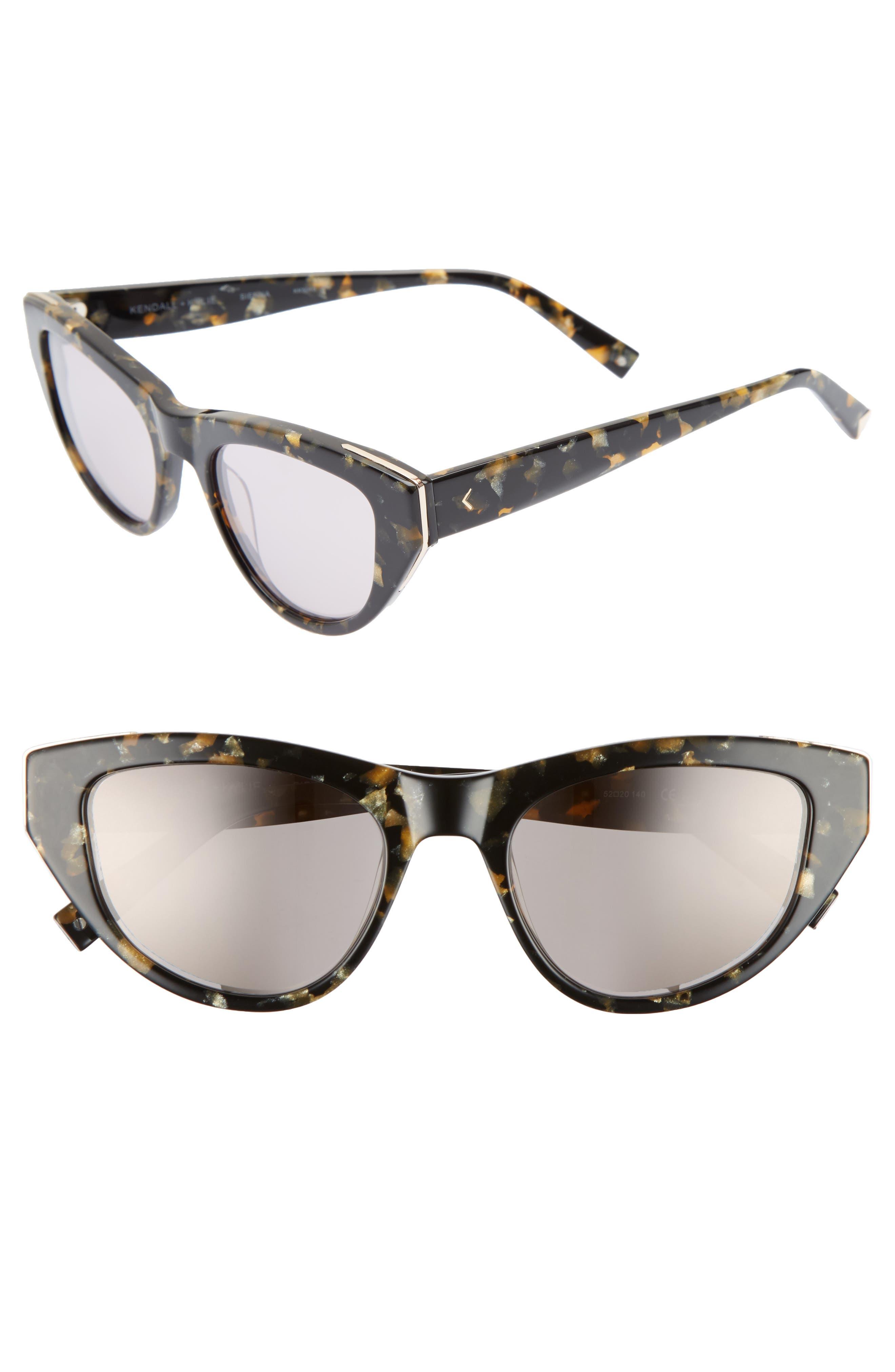 Sienna 52mm Retro Cat Eye Sunglasses,                         Main,                         color,