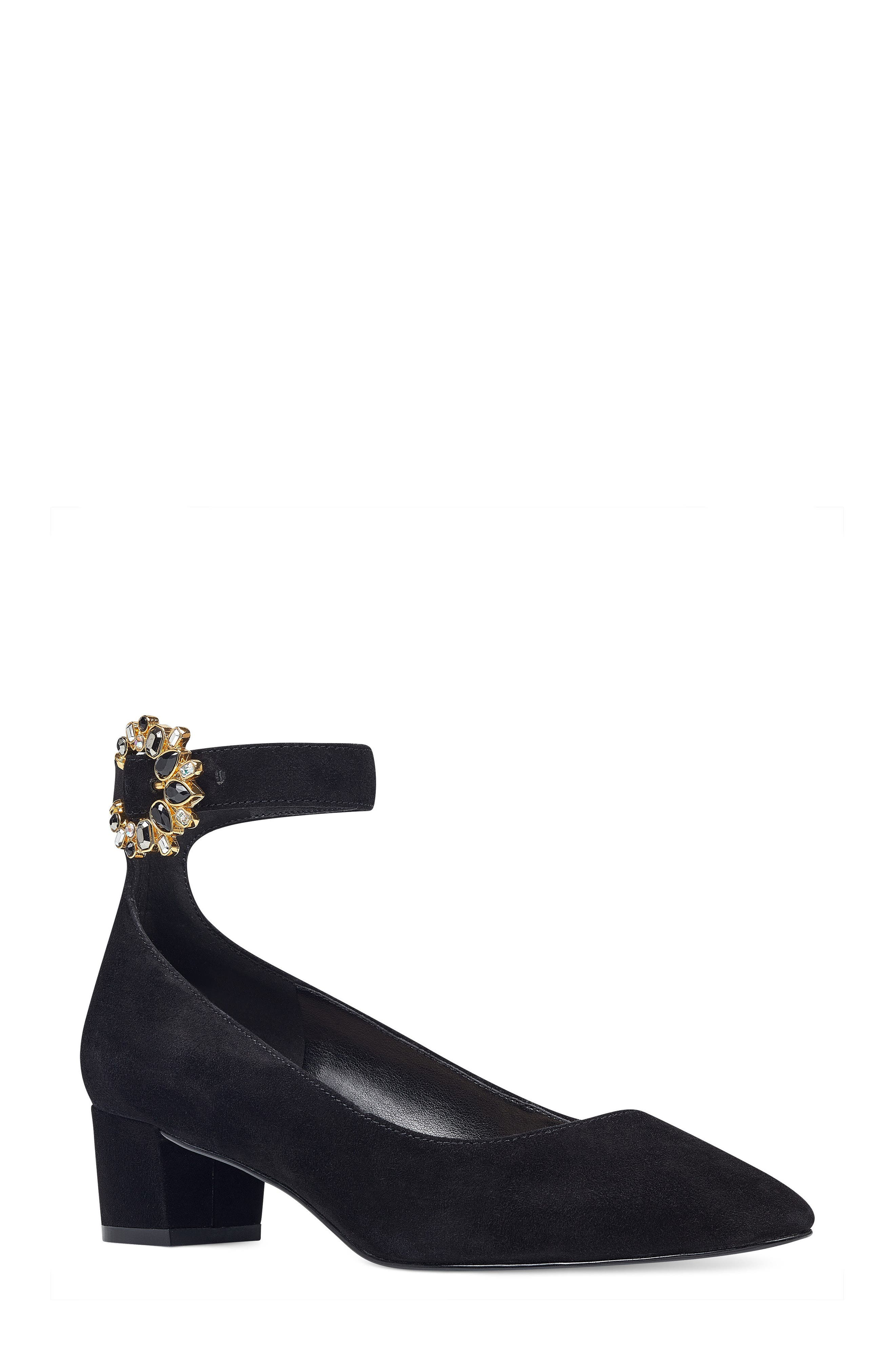 Bartly Ankle Strap Pump,                         Main,                         color, 001