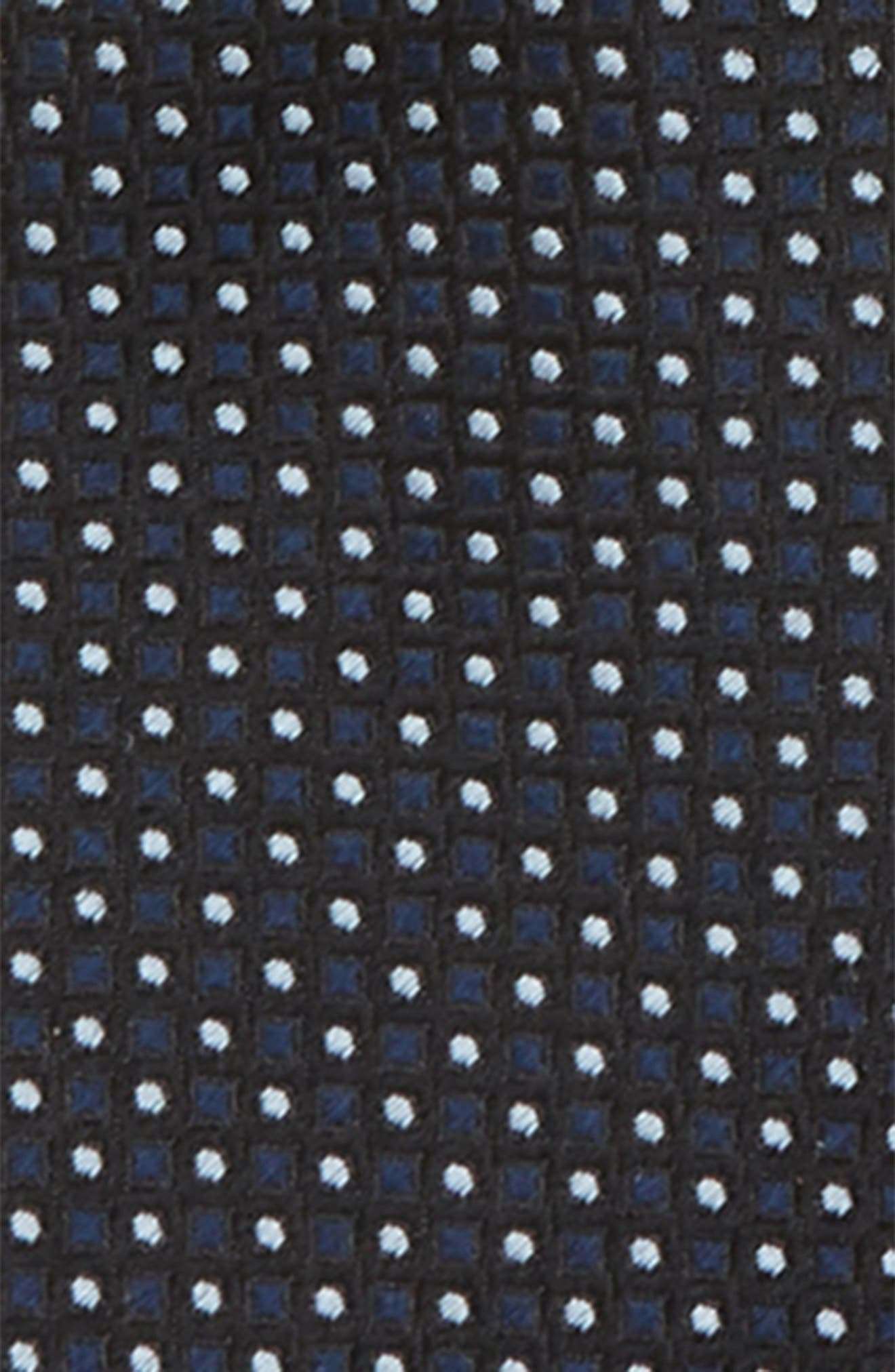 Dot Grid Silk Zip Tie,                             Alternate thumbnail 2, color,