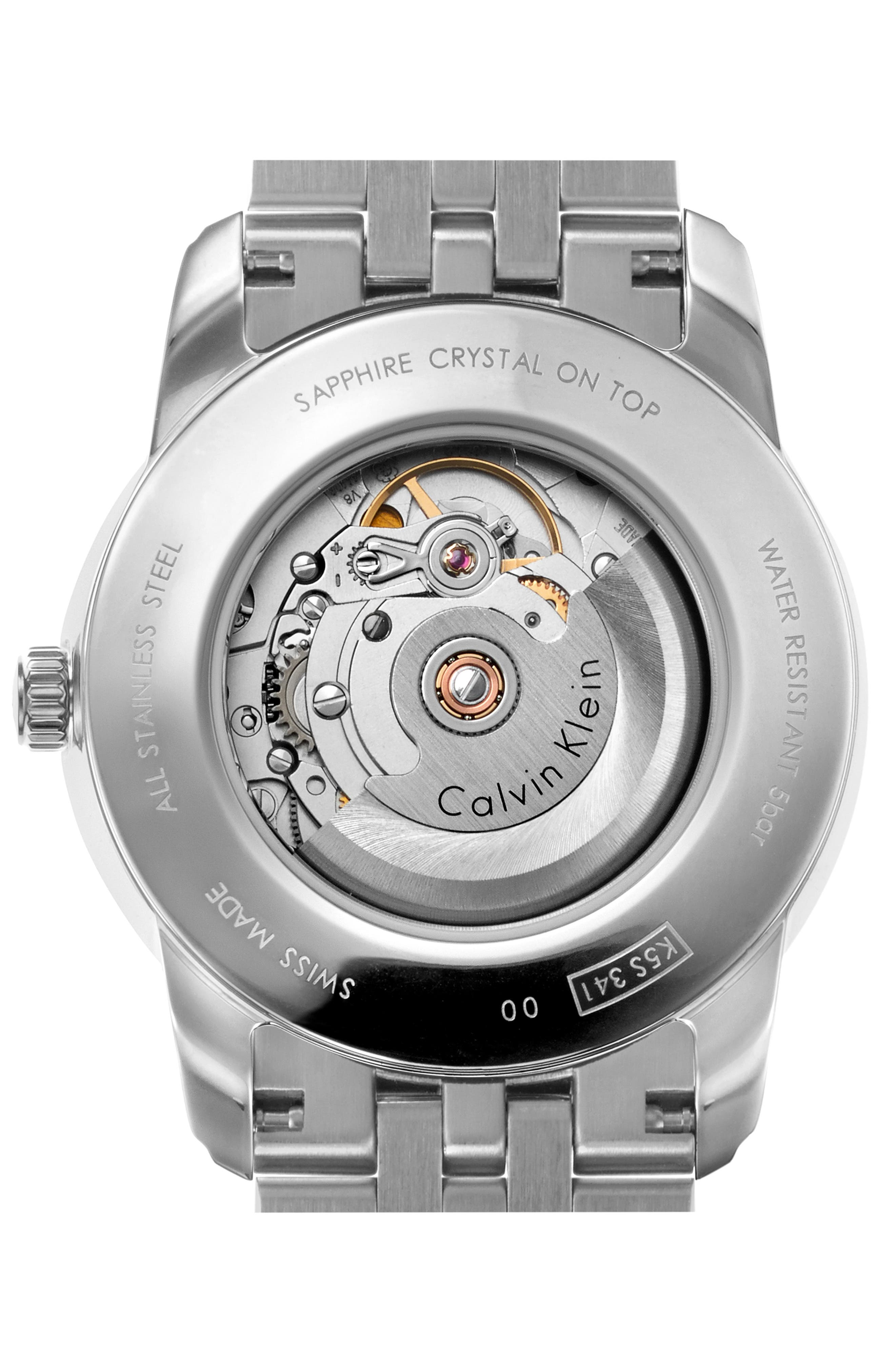 Infinite Too Automatic Bracelet Watch, 42mm,                             Alternate thumbnail 2, color,                             SILVER