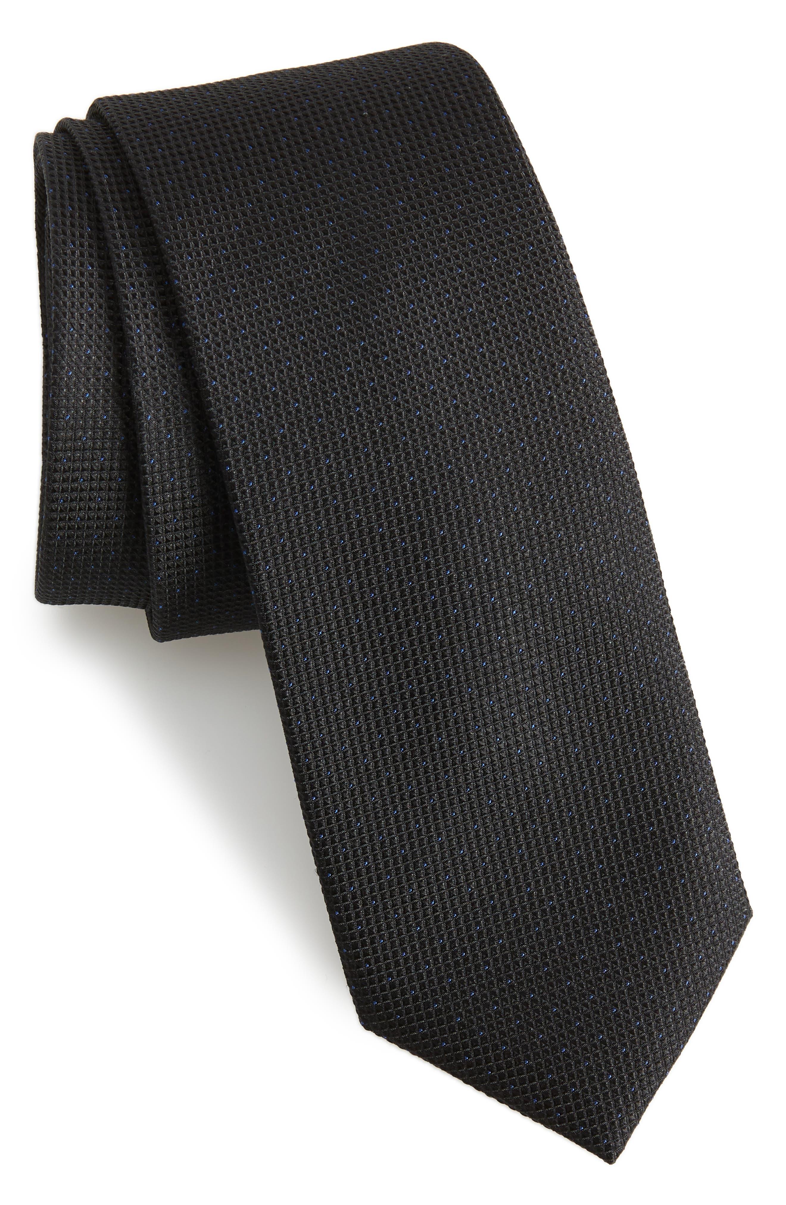 Chauncey Mini Silk Tie,                             Main thumbnail 1, color,                             001