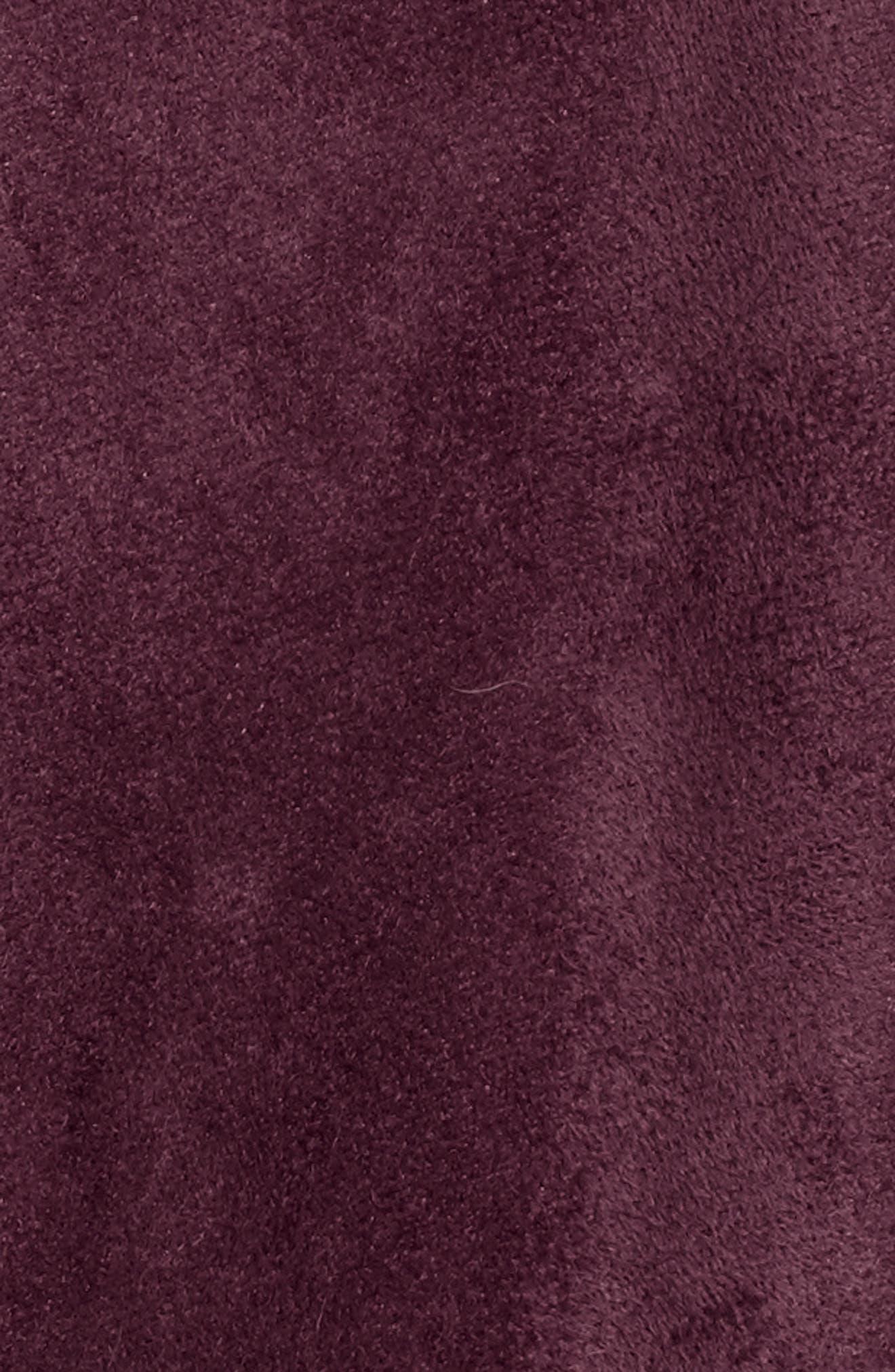 'Ana' Faux Leather Drape Front Jacket,                             Alternate thumbnail 11, color,