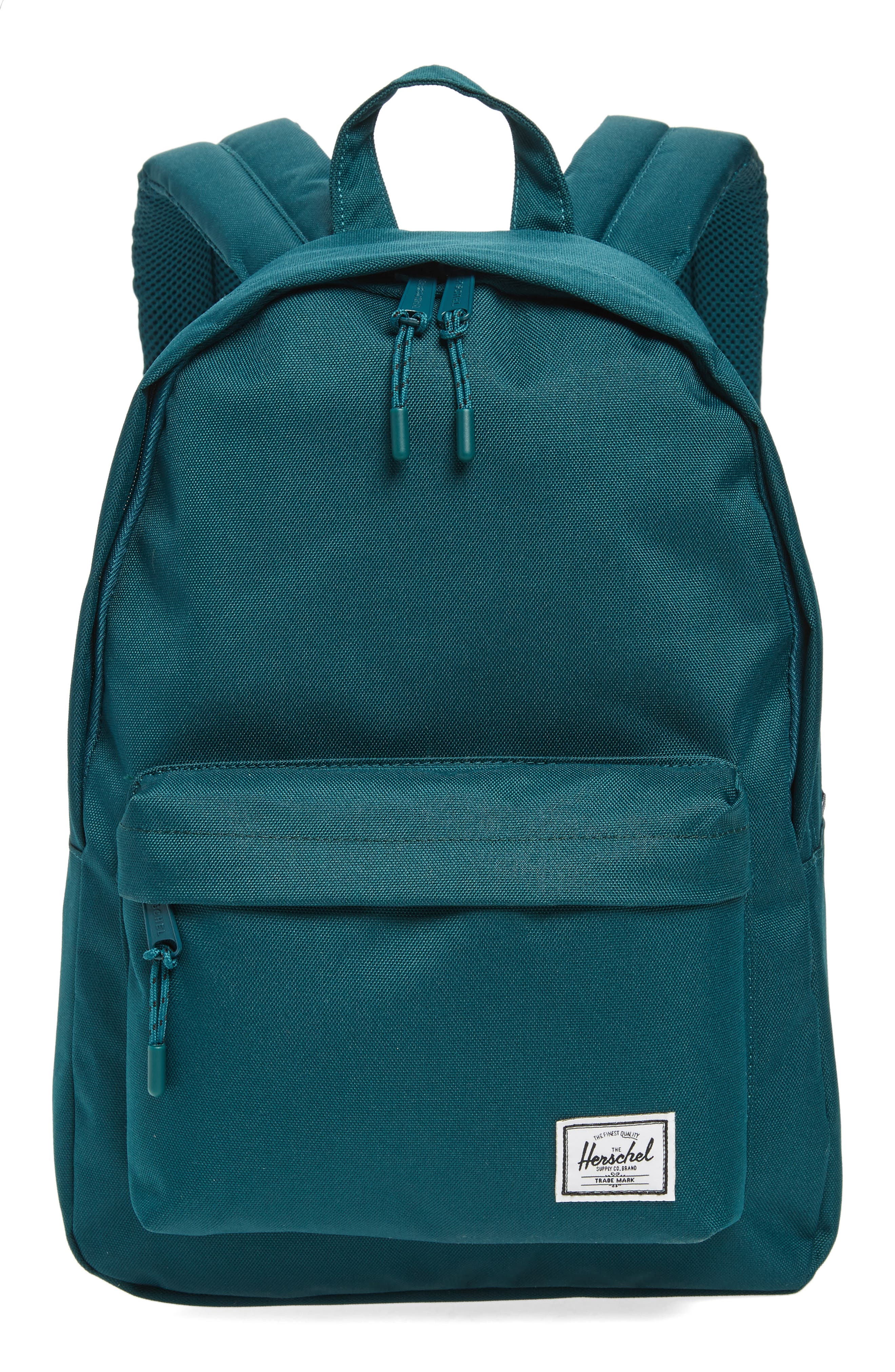 Classic Mid Volume Backpack,                             Main thumbnail 1, color,                             DEEP TEAL