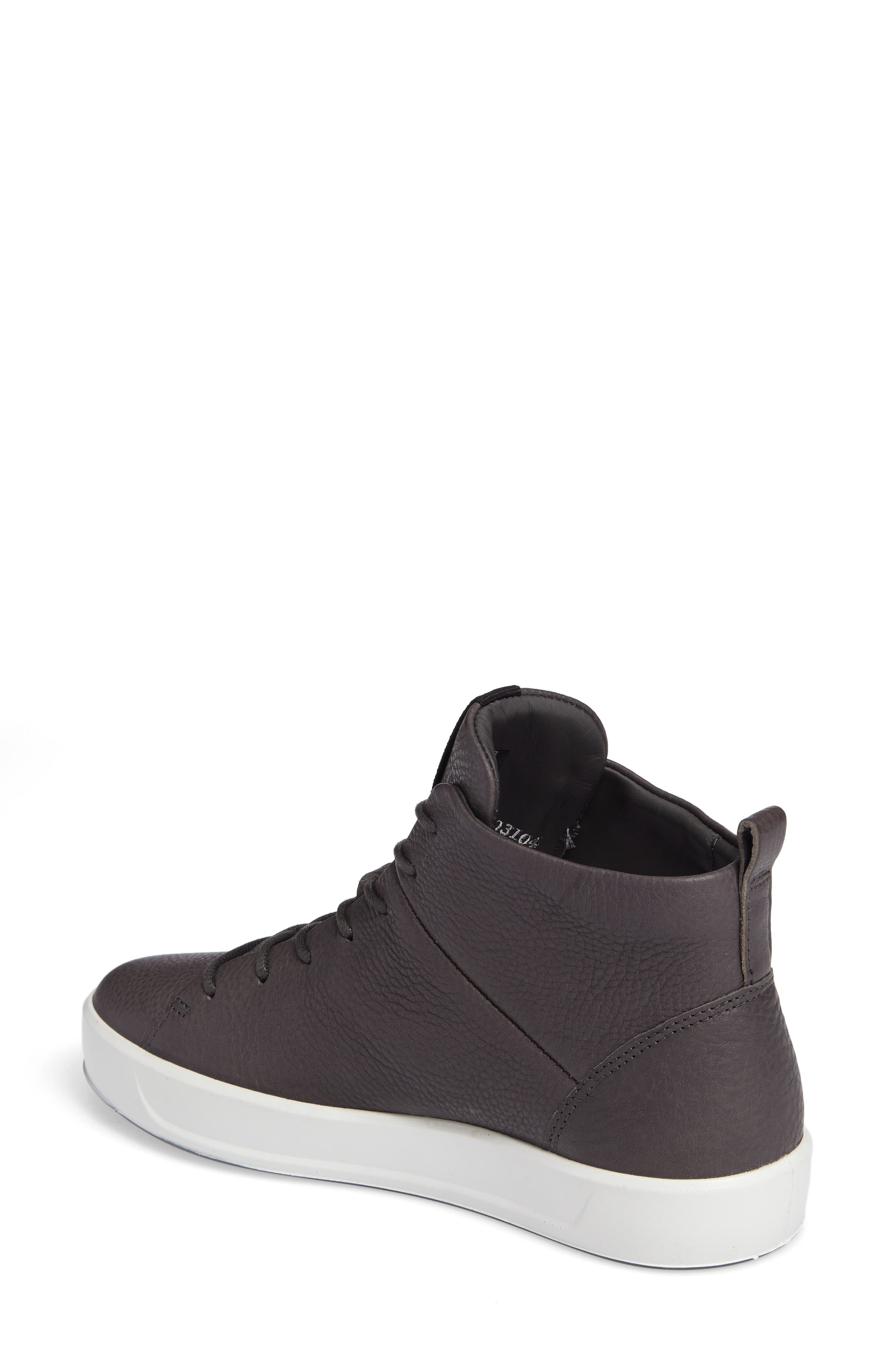Soft 8 High Top Sneaker,                             Alternate thumbnail 2, color,                             DARK SHADOW LEATHER