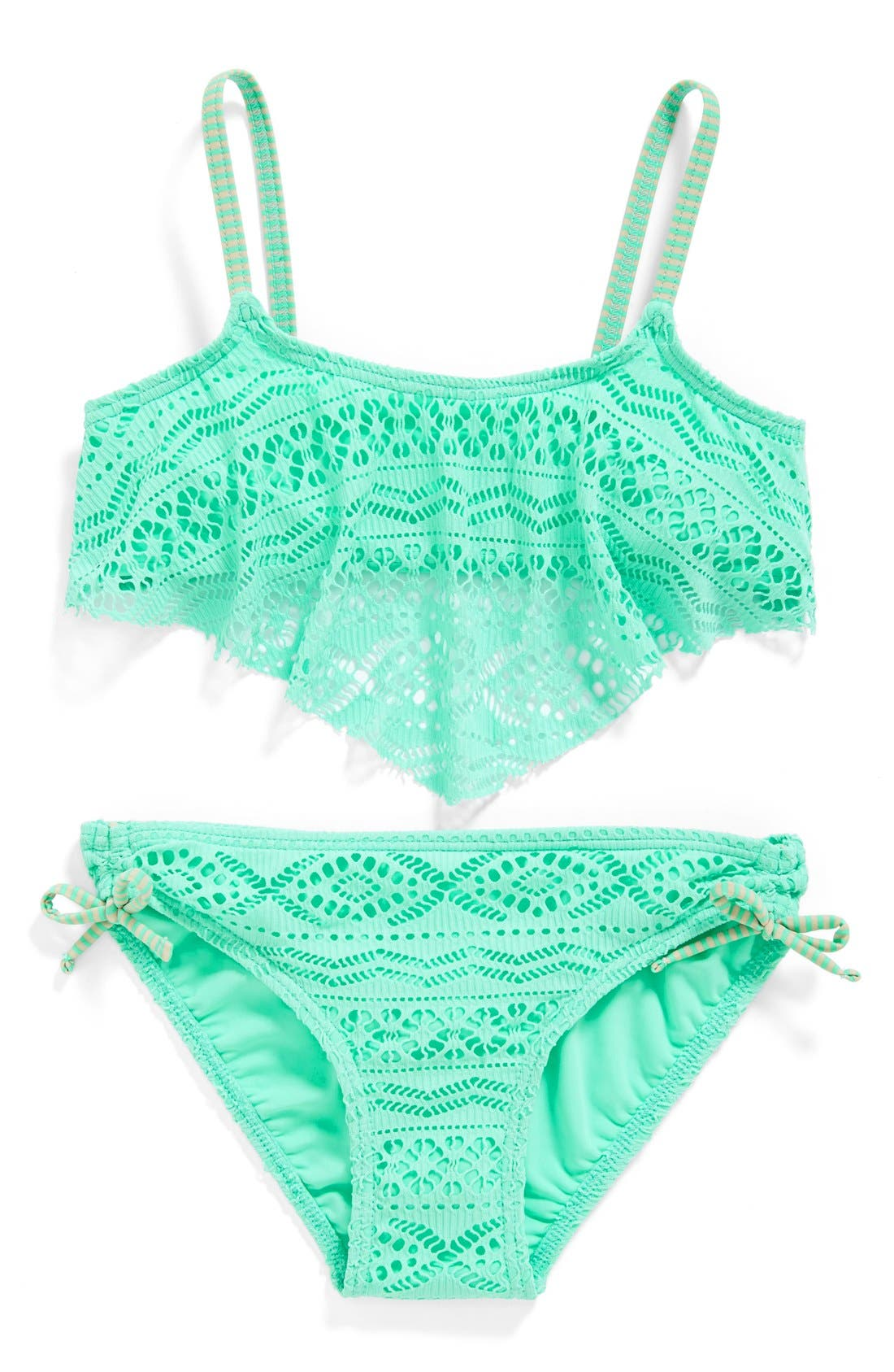 'Little Wild One' Two-Piece Swimsuit, Main, color, 300