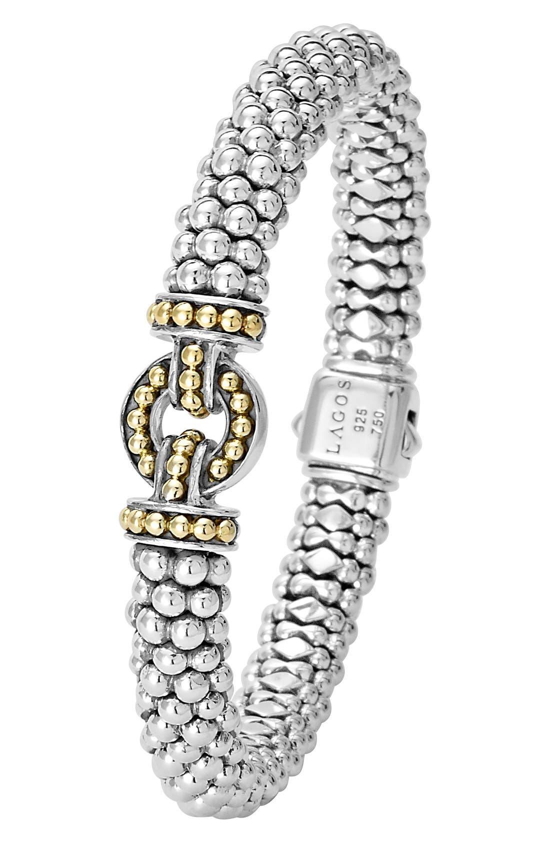 'Enso' Two-Tone Rope Caviar Bracelet,                             Alternate thumbnail 2, color,                             SILVER/ GOLD