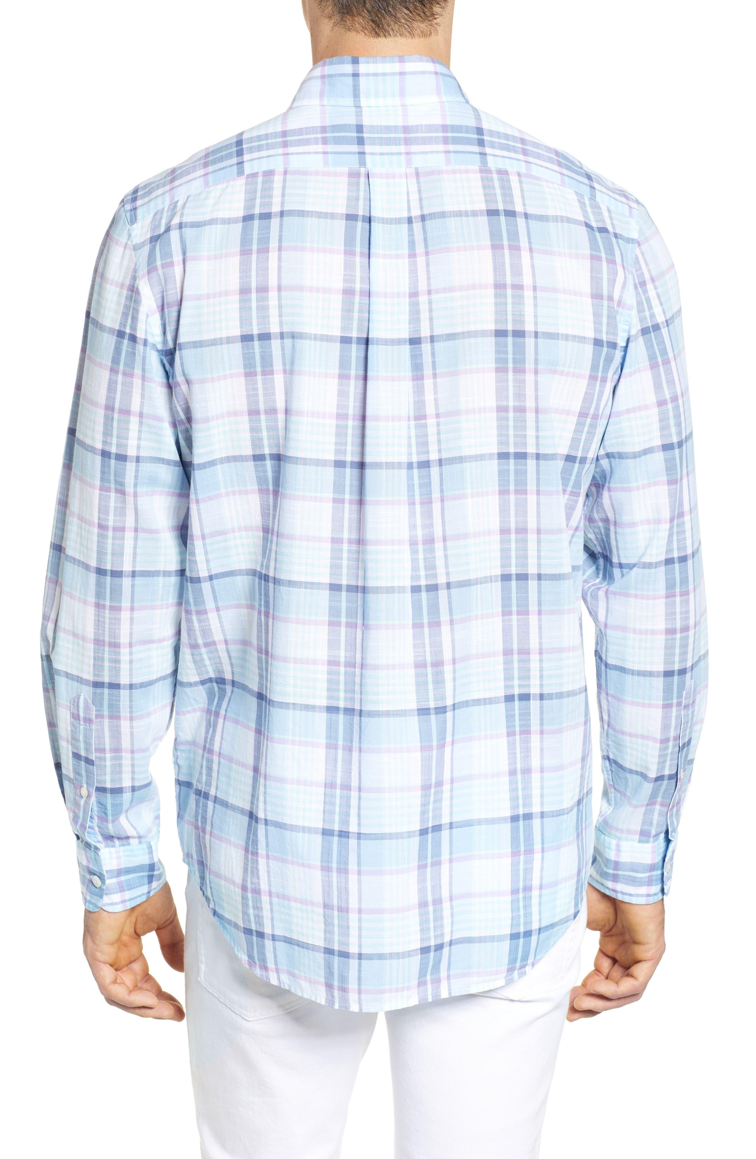 Pleasant Bay Classic Fit Plaid Sport Shirt,                             Alternate thumbnail 2, color,                             456
