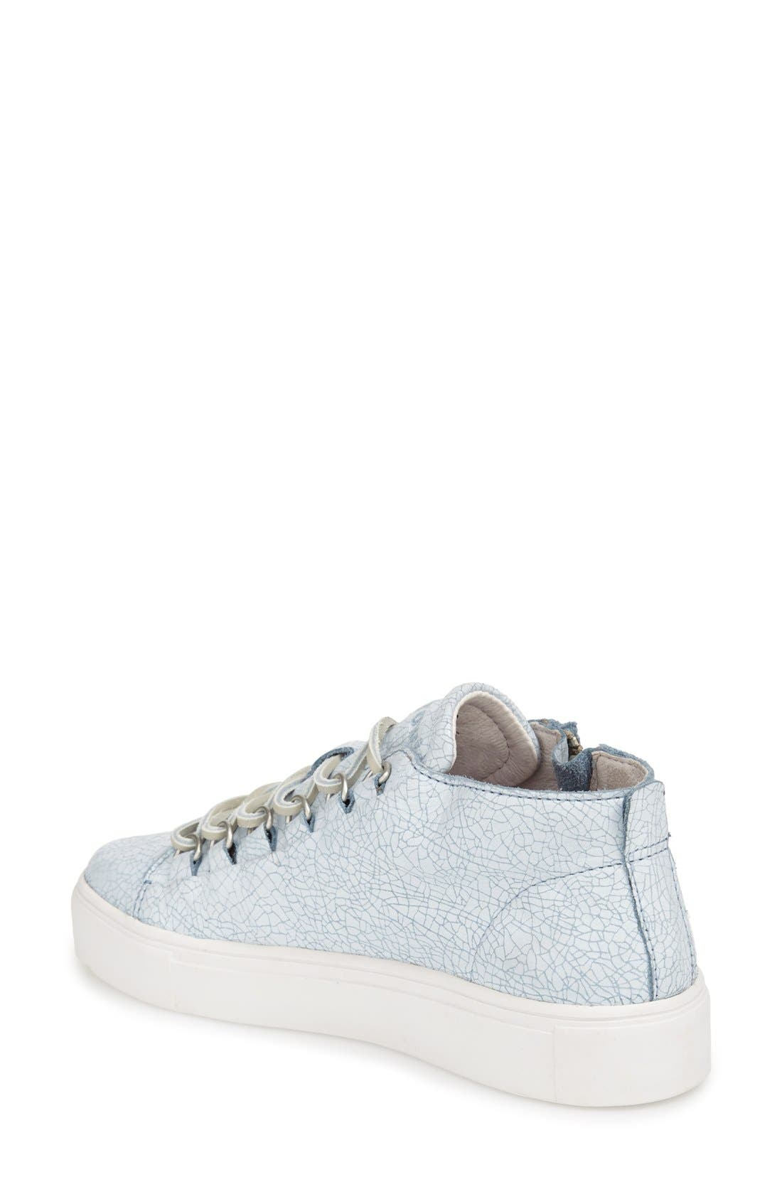 'LL60' Midi Sneaker,                             Alternate thumbnail 2, color,                             BLUE/ WHITE LEATHER