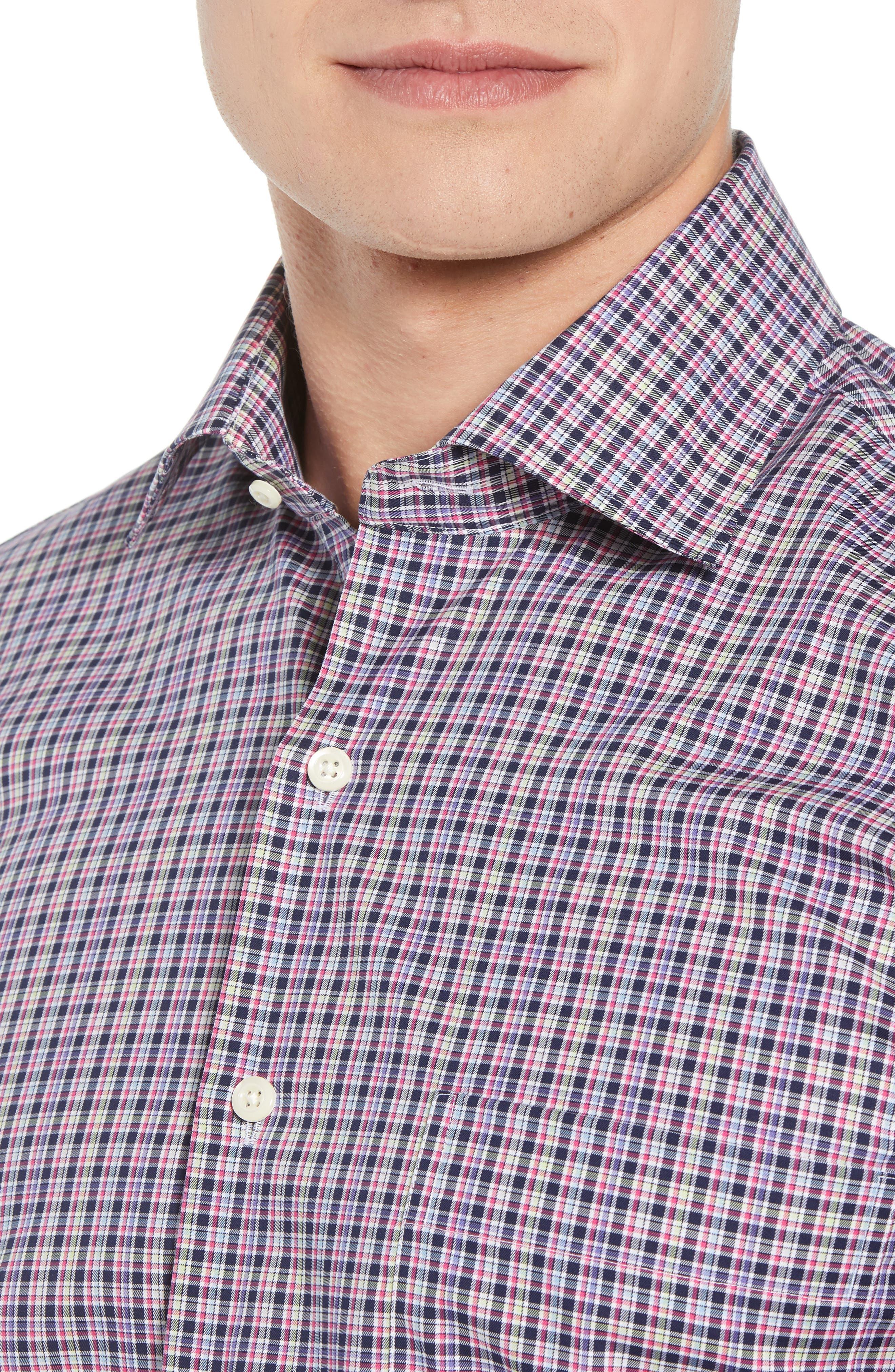 Crown Ease Triberg Regular Fit Check Sport Shirt,                             Alternate thumbnail 2, color,                             BLUE