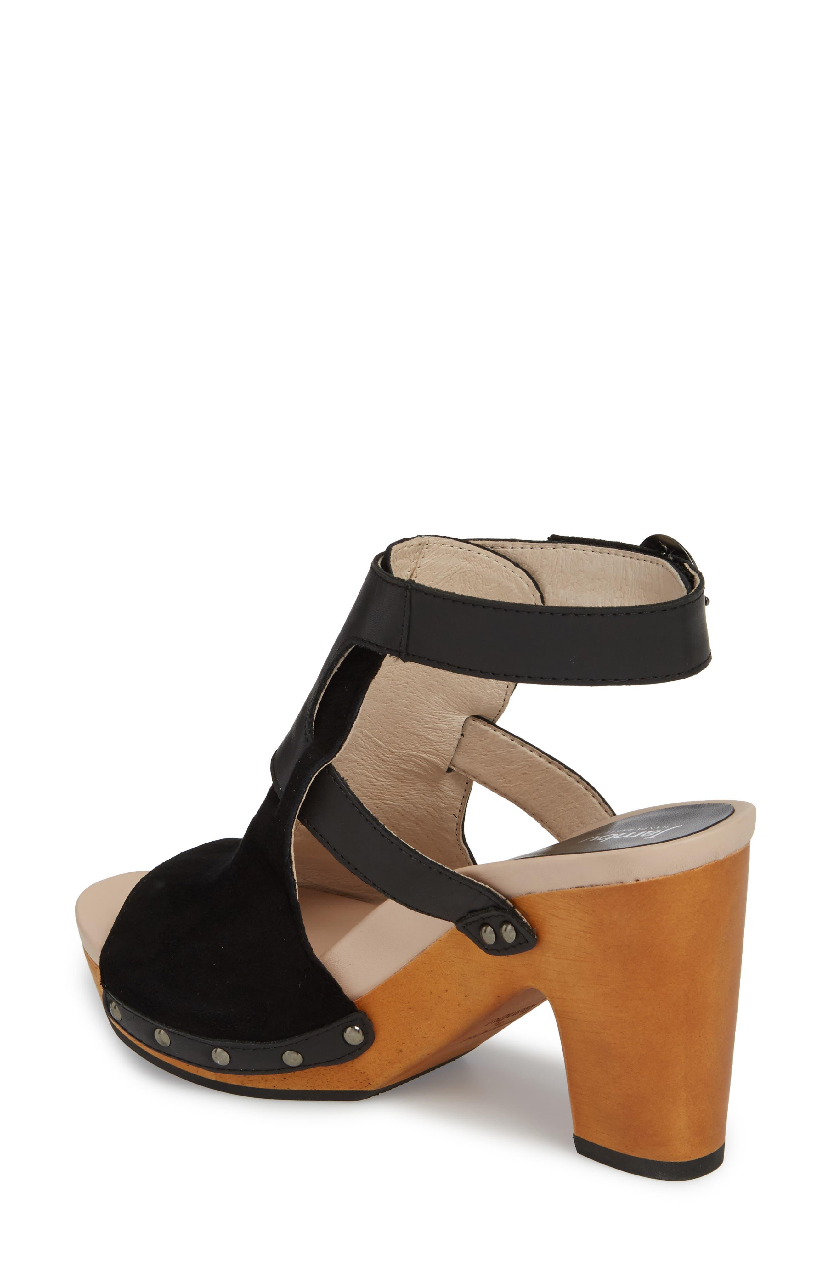 Gina Platform Sandal,                             Alternate thumbnail 2, color,                             BLACK LEATHER