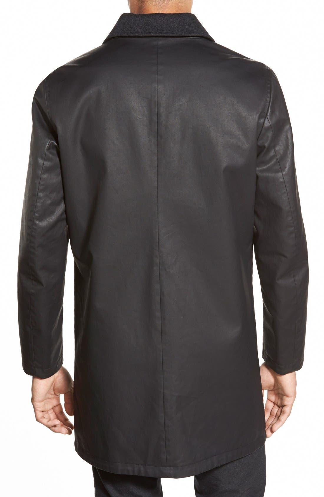 Cotton & Wool Reversible Car Coat,                             Alternate thumbnail 5, color,                             001