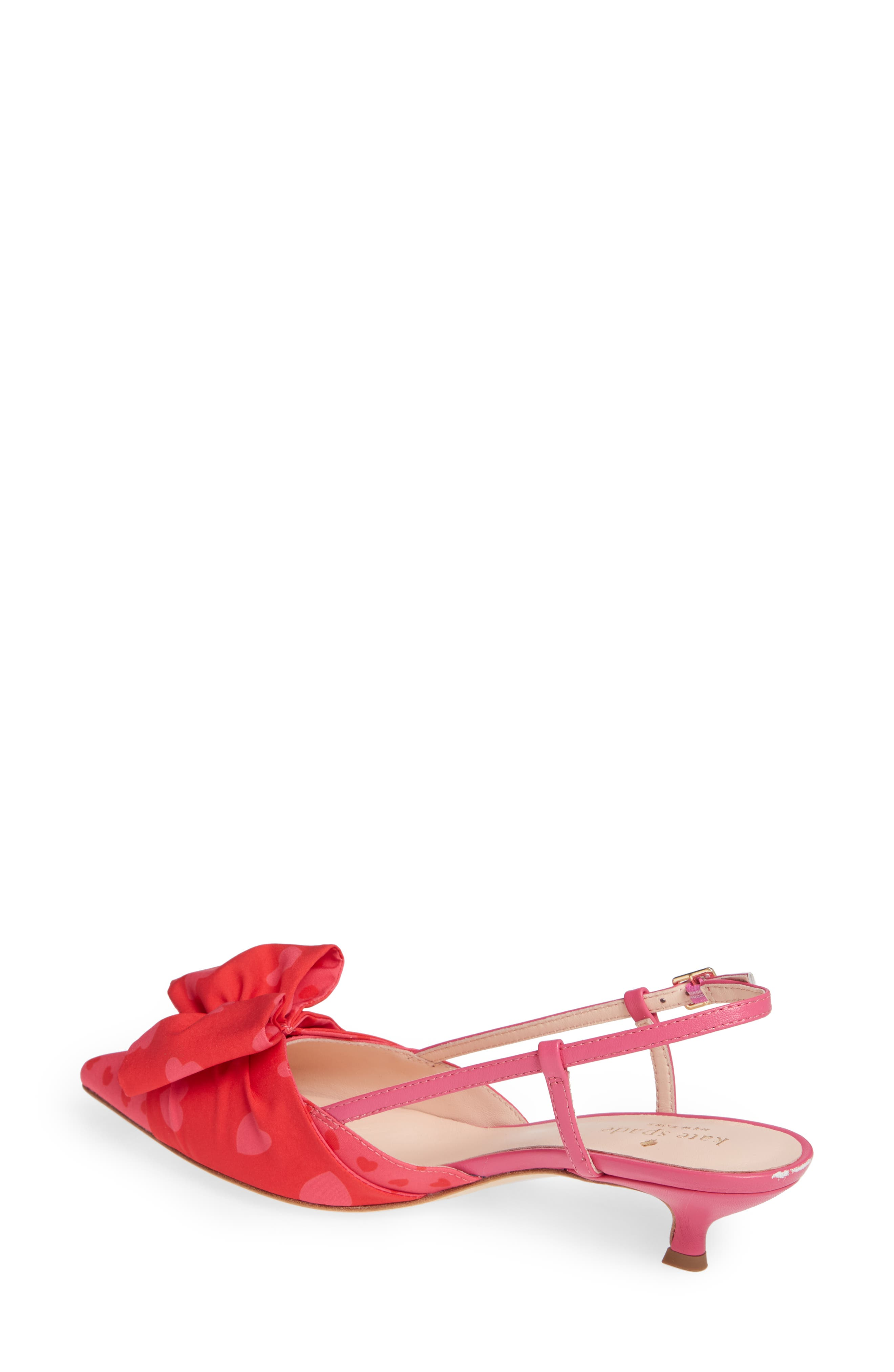 daxton slingback pump,                             Alternate thumbnail 2, color,                             BEGONIA/ ENGINE RED HEART
