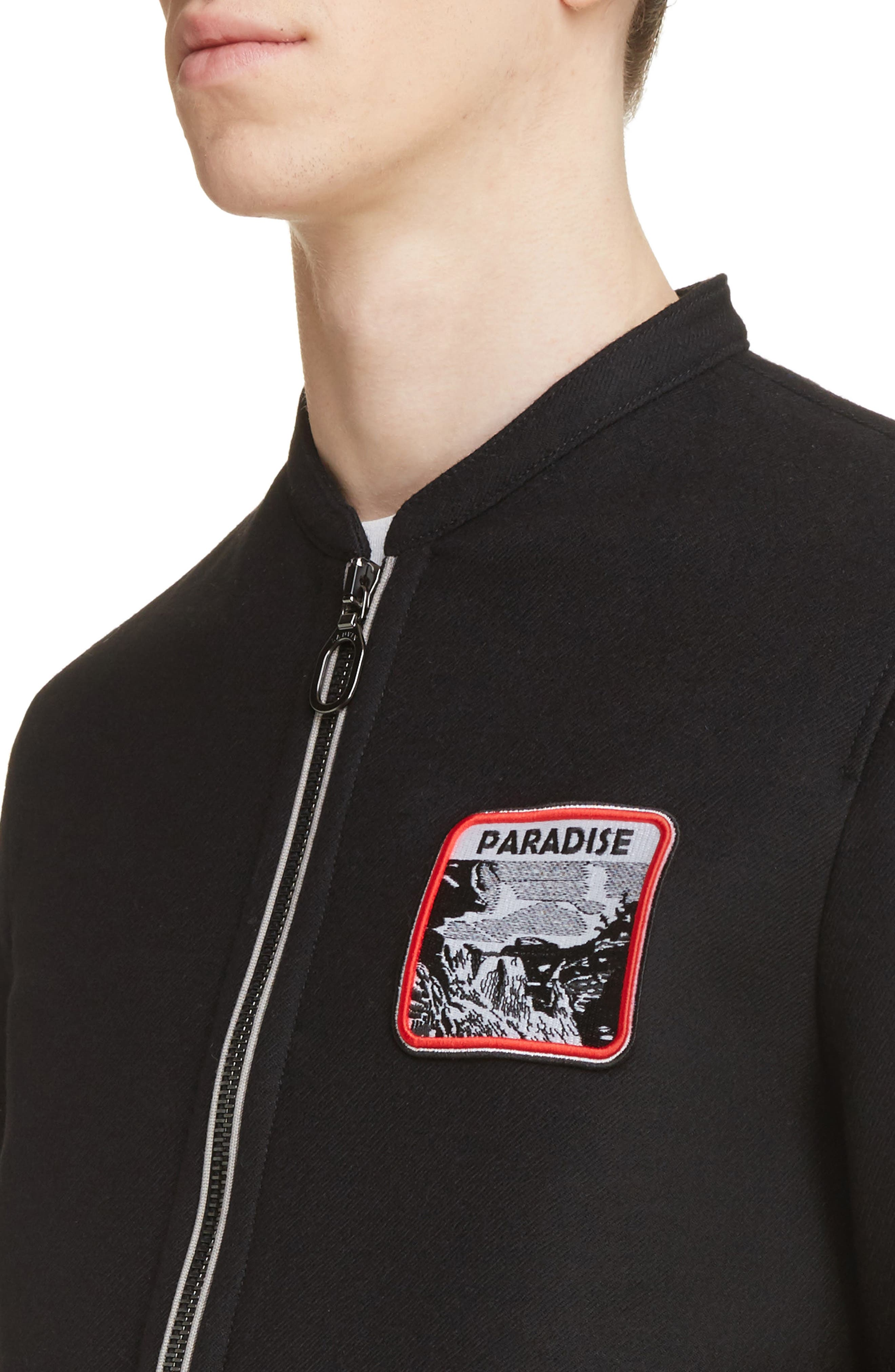 Paradise Patch Bomber Jacket,                             Alternate thumbnail 4, color,                             001