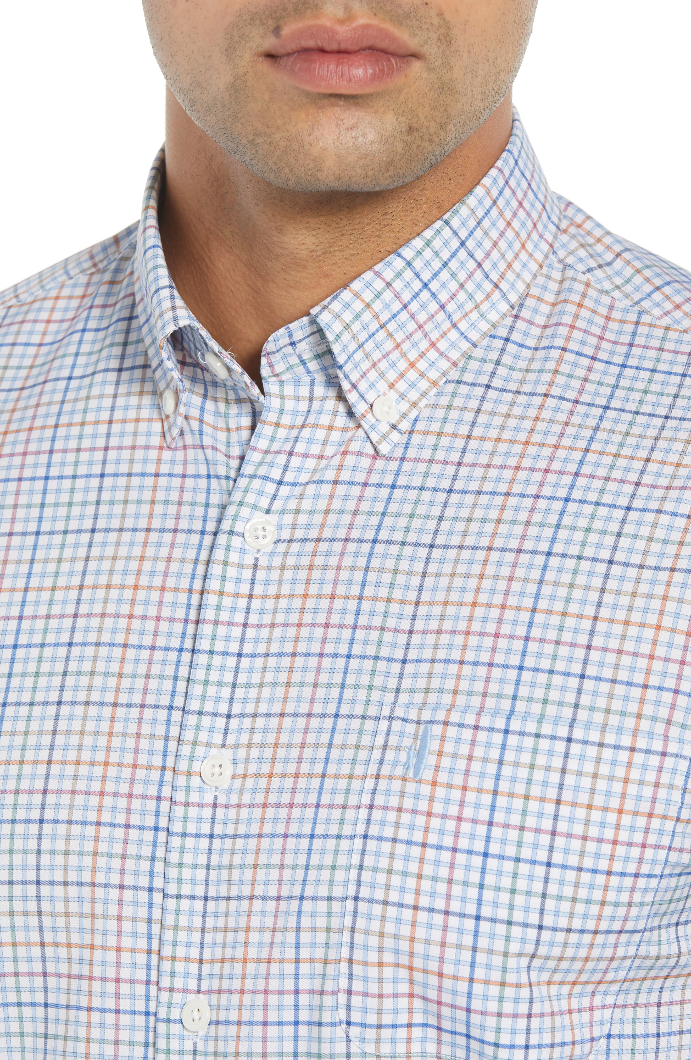 Chester Classic Fit Sport Shirt,                             Alternate thumbnail 2, color,                             GULF BLUE