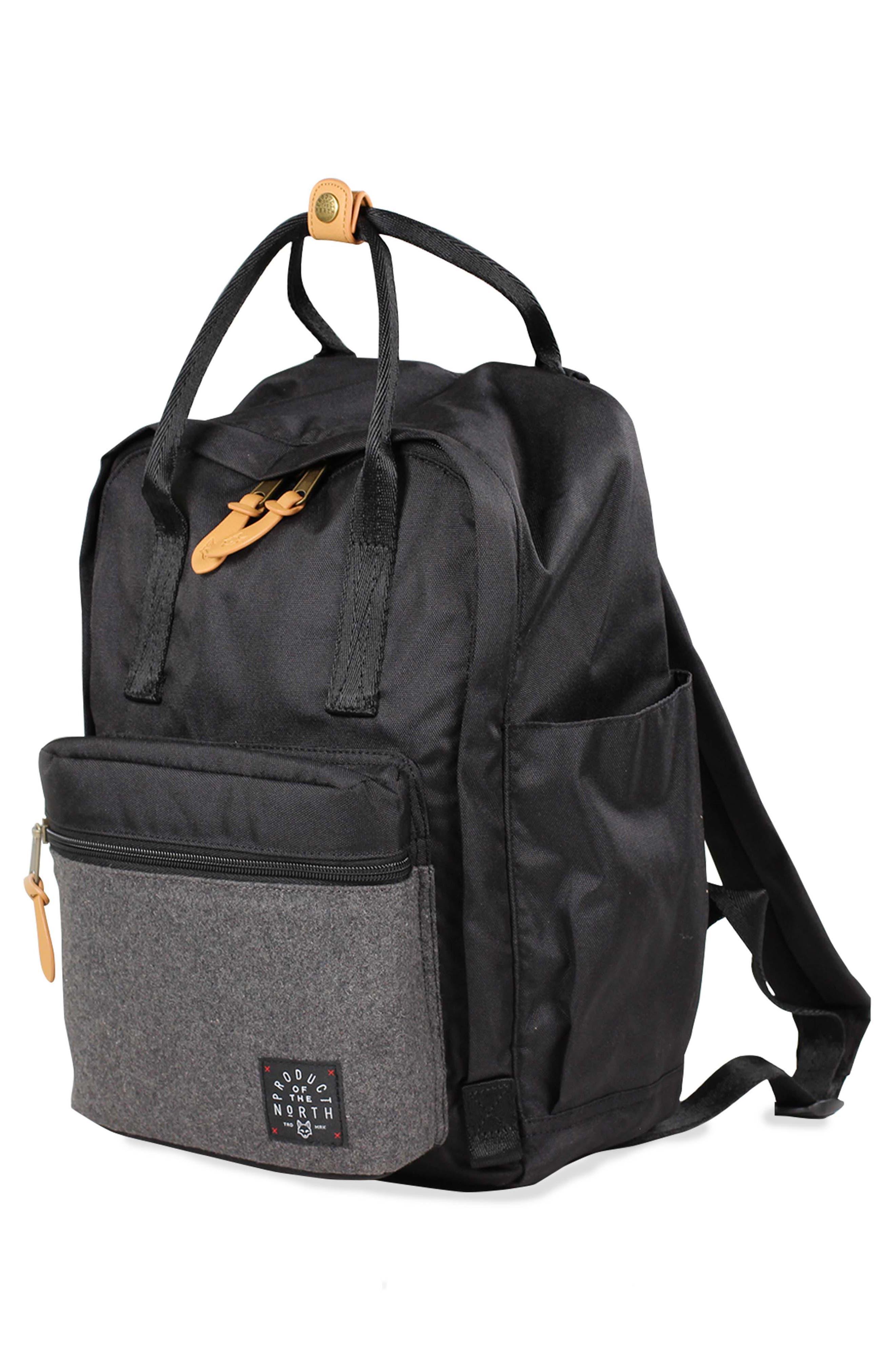 Elkin Diaper Backpack,                             Alternate thumbnail 4, color,                             BLACK