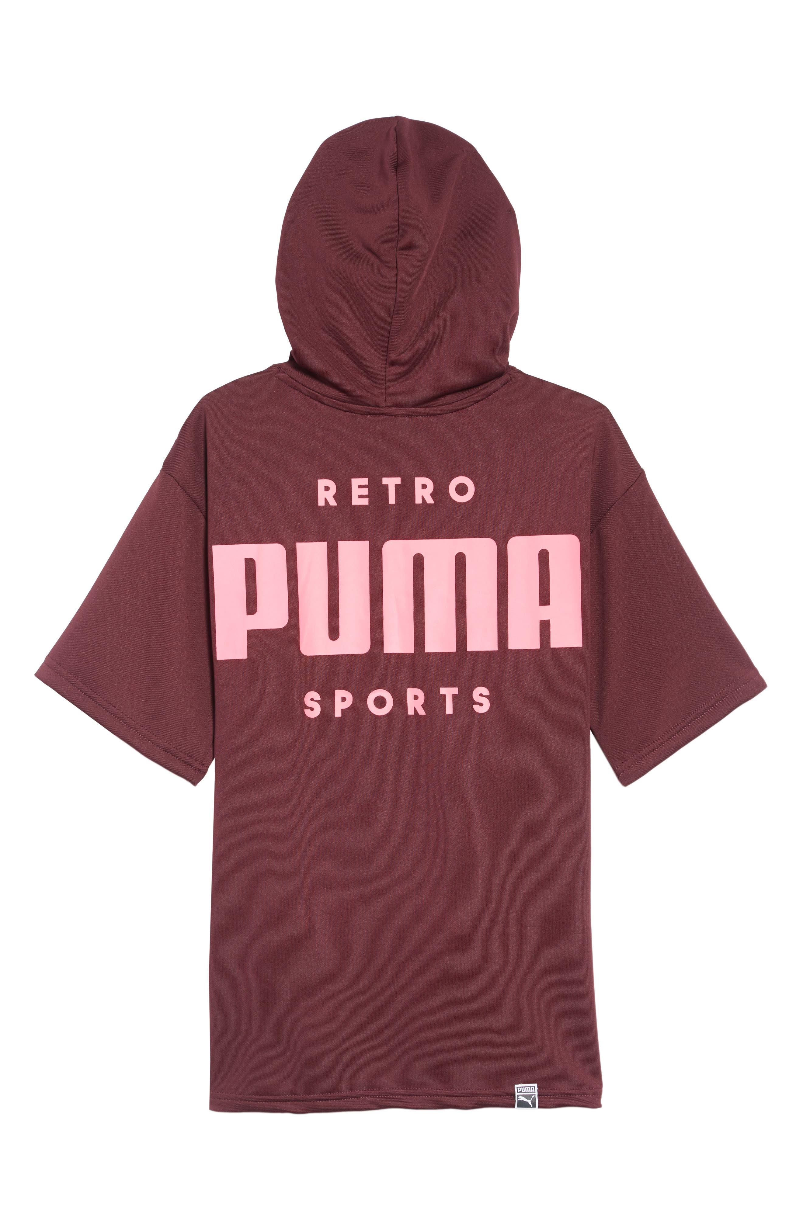 PUMA,                             Oversized Hooded Sweatshirt Dress,                             Alternate thumbnail 2, color,                             597