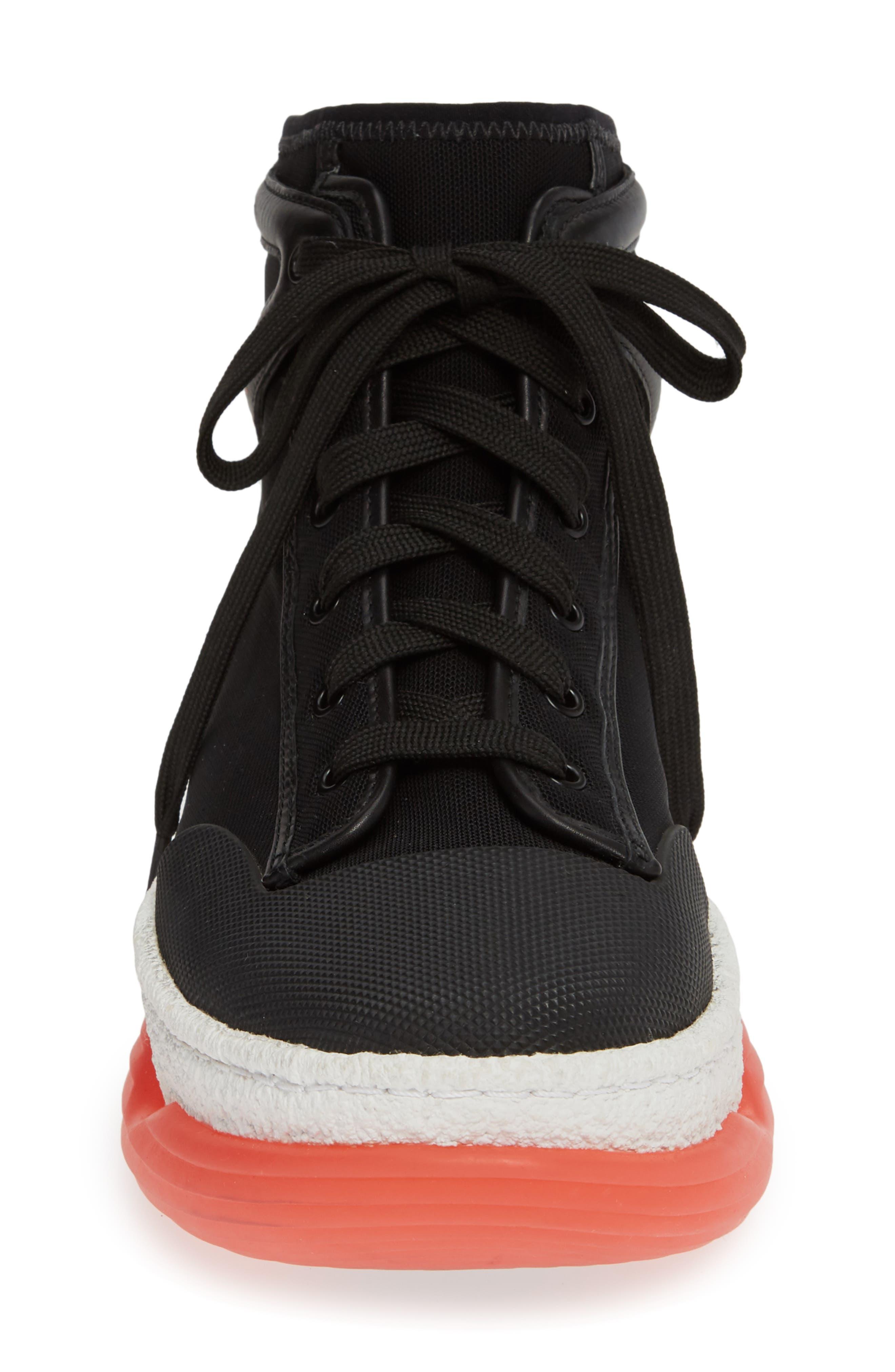 ALEXANDER WANG,                             Logo Platform Sneaker,                             Alternate thumbnail 4, color,                             BLACK
