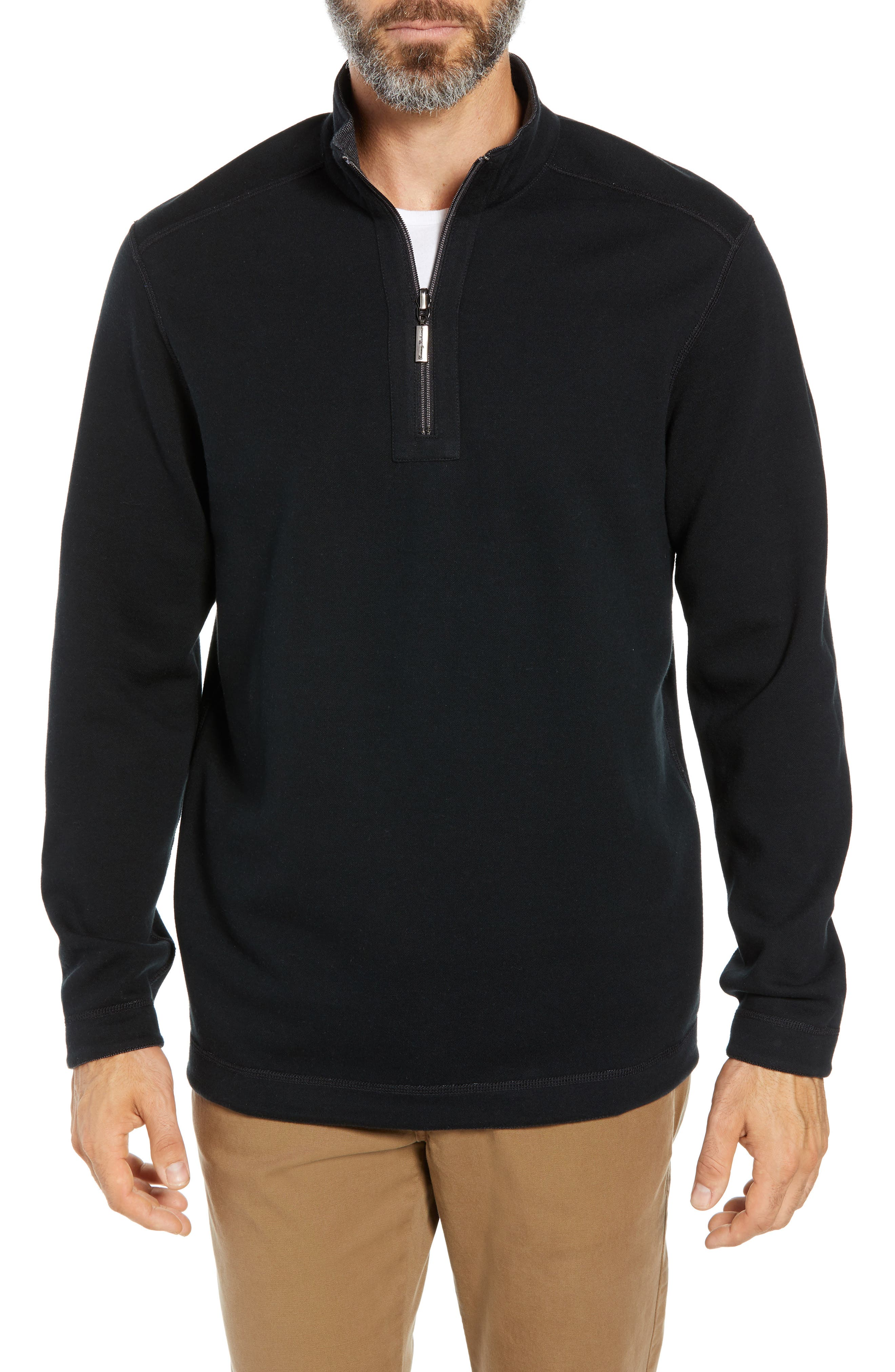 Playa Port Flip Quarter Zip Pullover,                             Alternate thumbnail 2, color,                             001