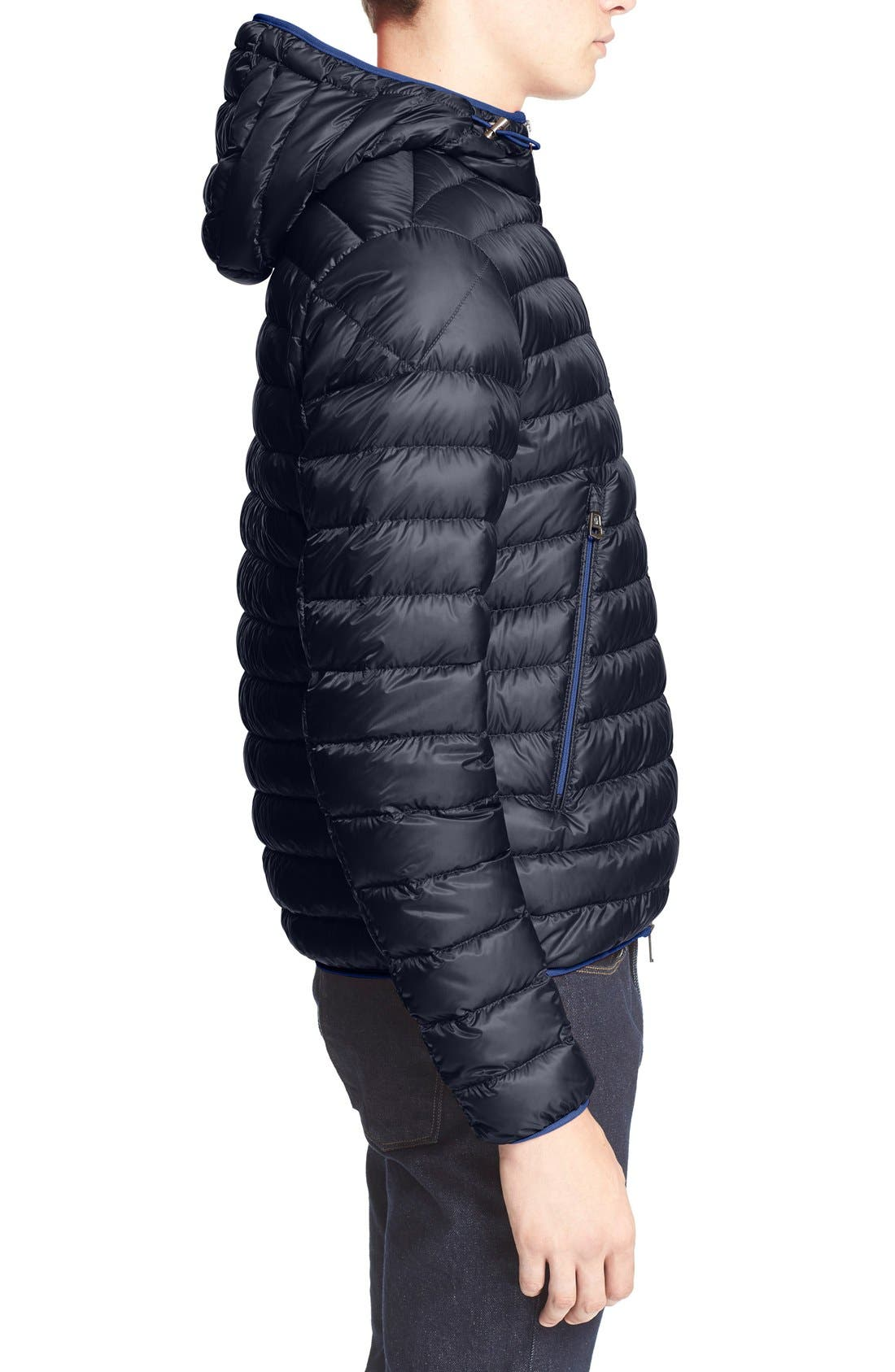 'Mir' Hooded Quilted Down Jacket,                             Alternate thumbnail 4, color,                             400
