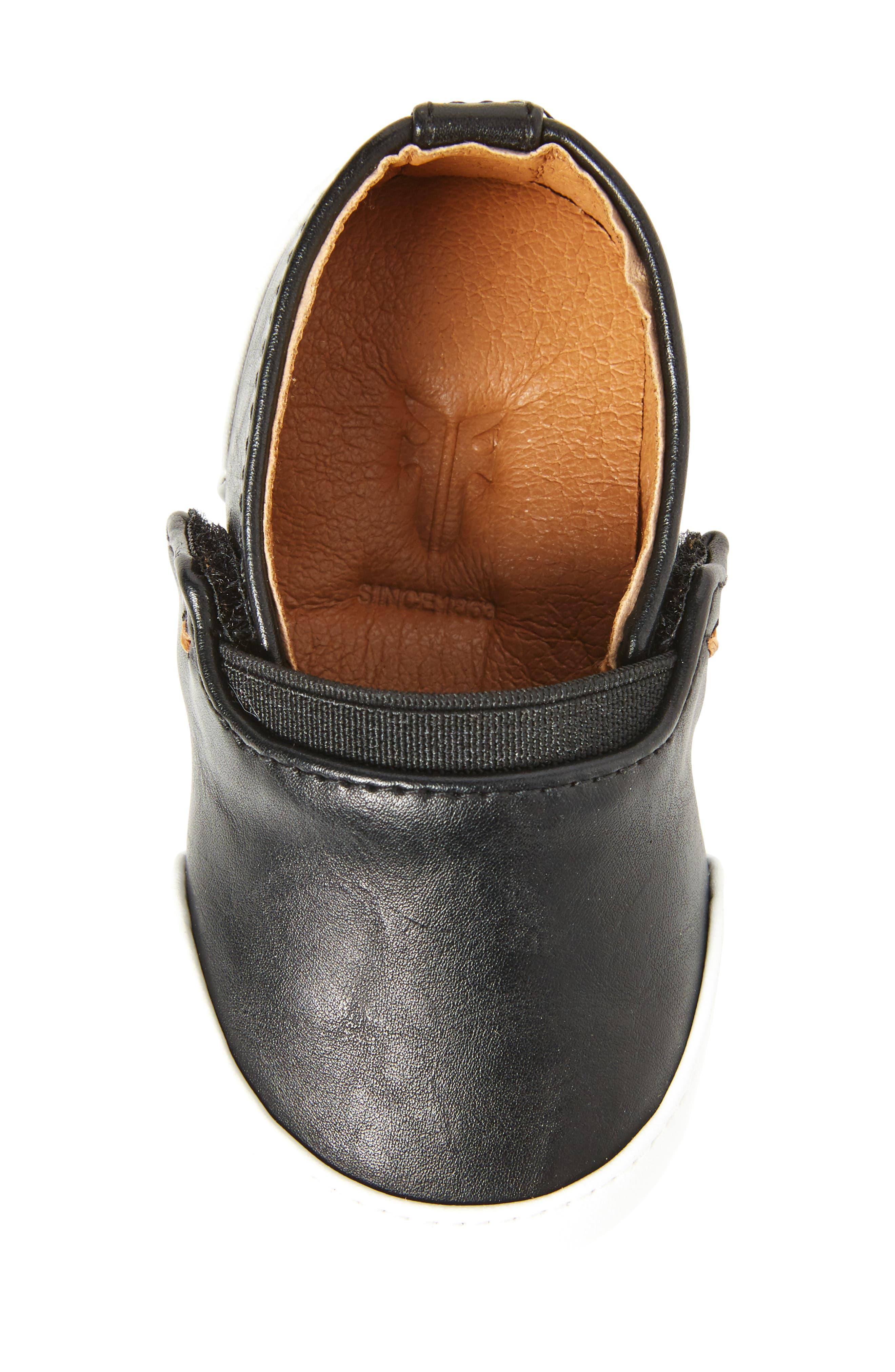 Baby Melanie Slip-On Sneaker,                             Alternate thumbnail 5, color,                             BLACK