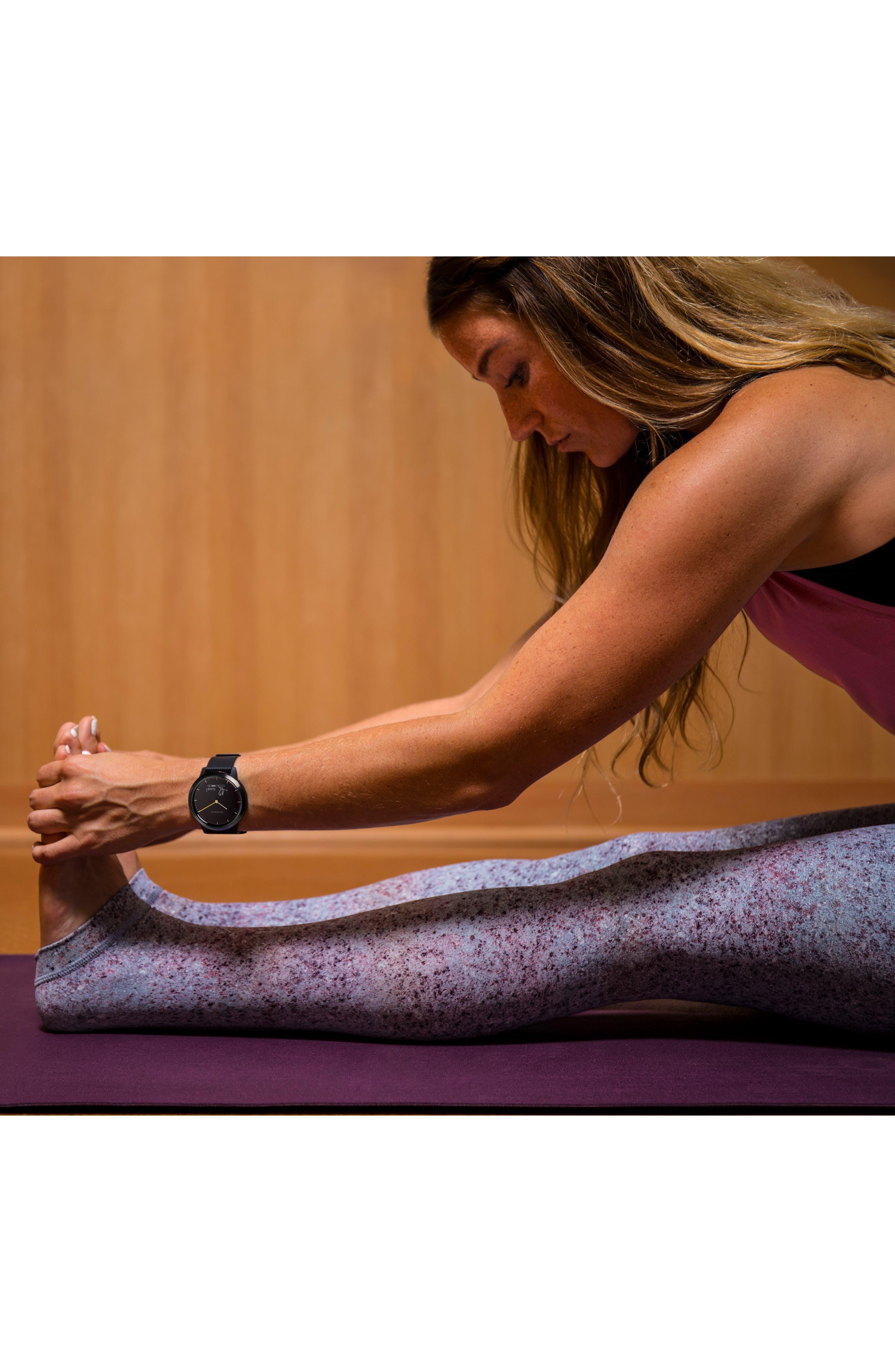 Vivomove HR Sport Hybrid Smart Watch,                             Alternate thumbnail 9, color,                             001