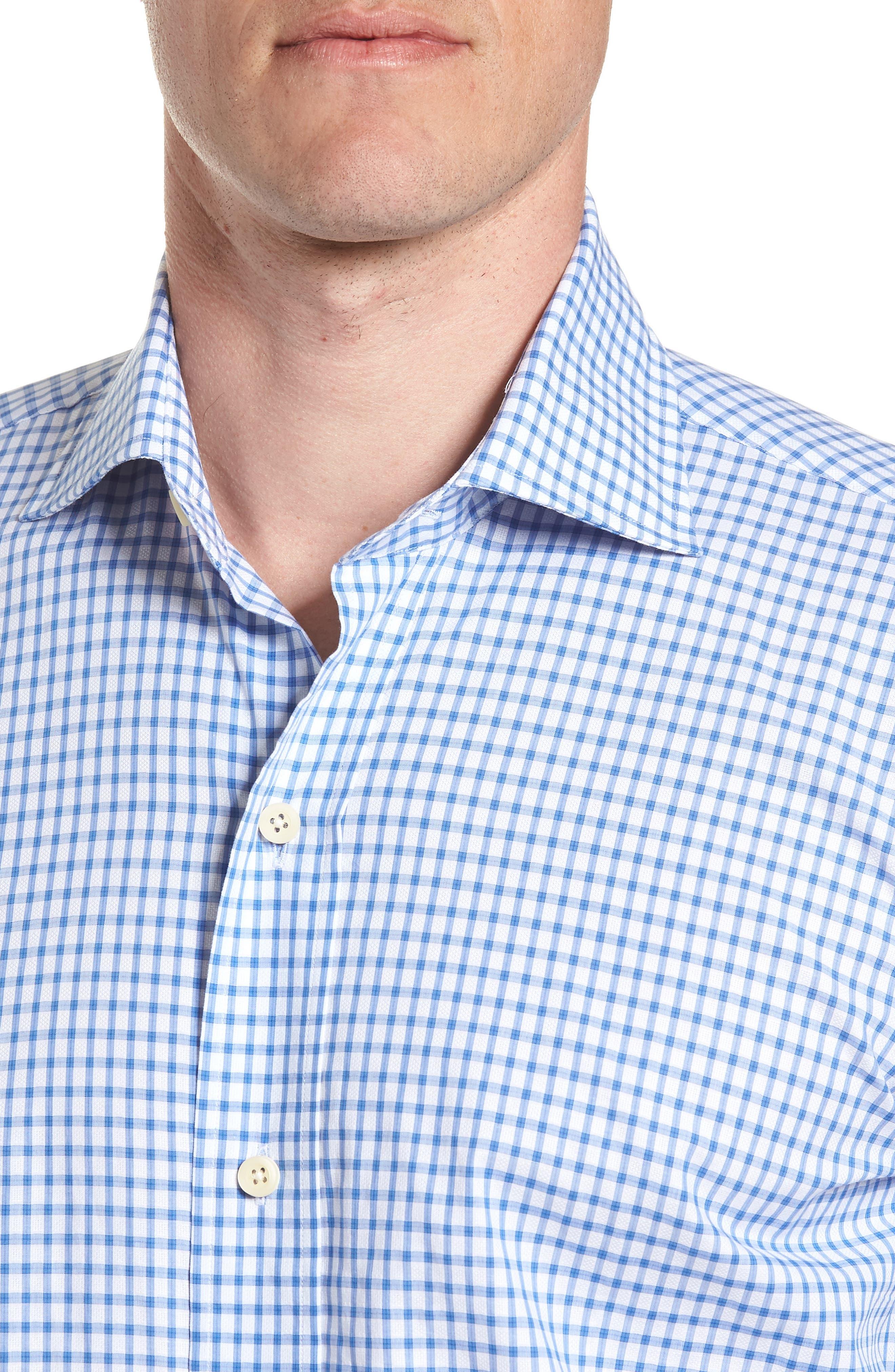 Garrison Slim Fit Check Dress Shirt,                             Alternate thumbnail 2, color,