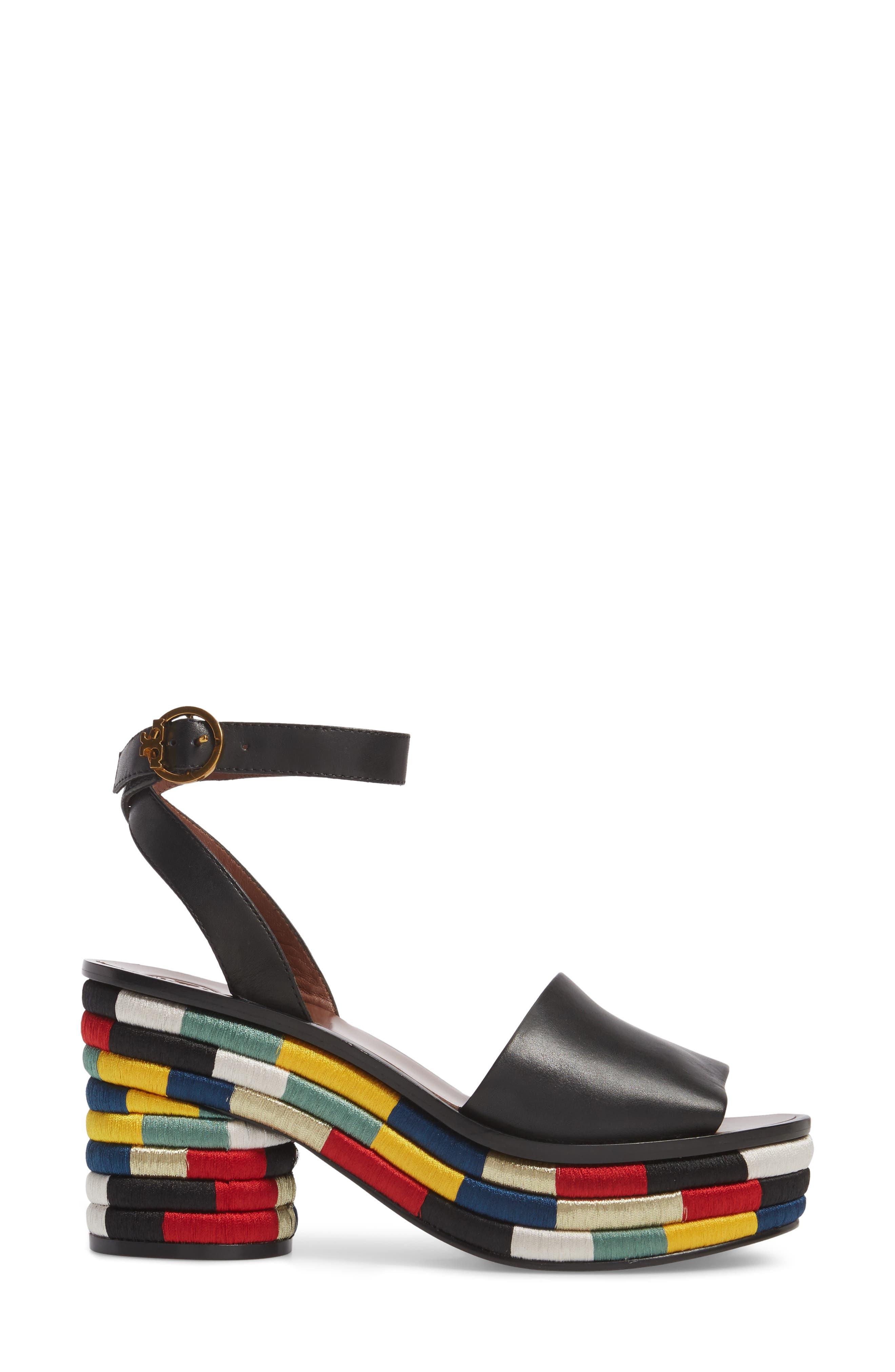 Camilla Embroidered Platform Sandal,                             Alternate thumbnail 3, color,