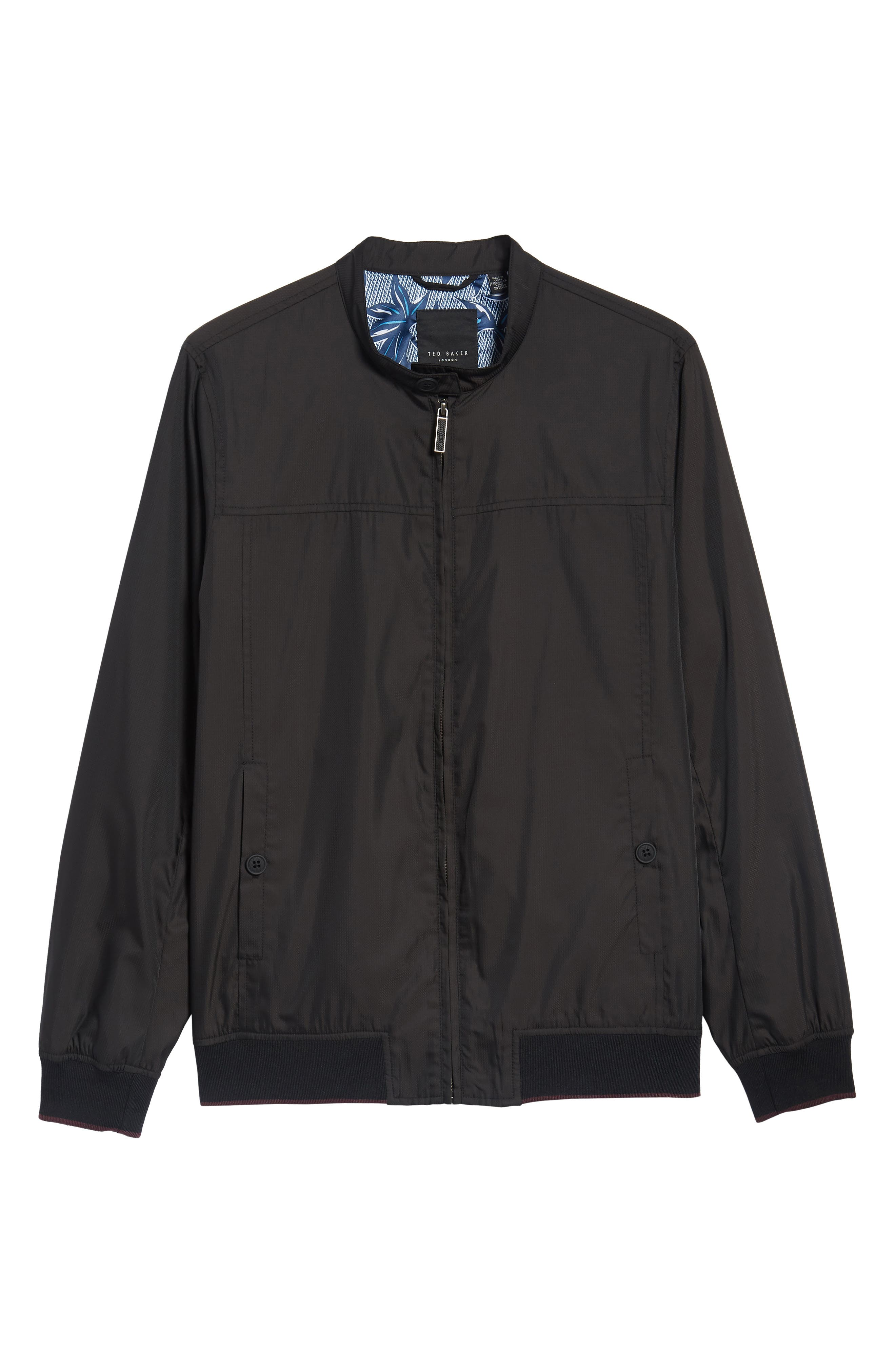 Calgar Nylon Bomber Jacket,                             Alternate thumbnail 5, color,