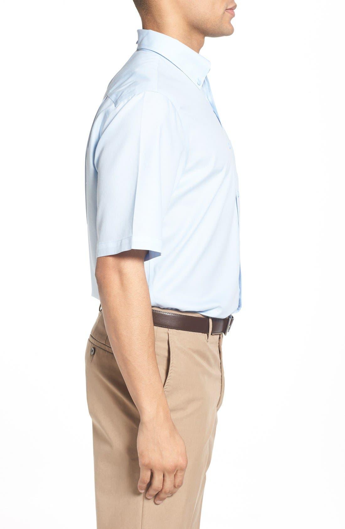 'Classic' Smartcare<sup>™</sup> Regular Fit Short Sleeve Cotton Sport Shirt,                             Alternate thumbnail 37, color,