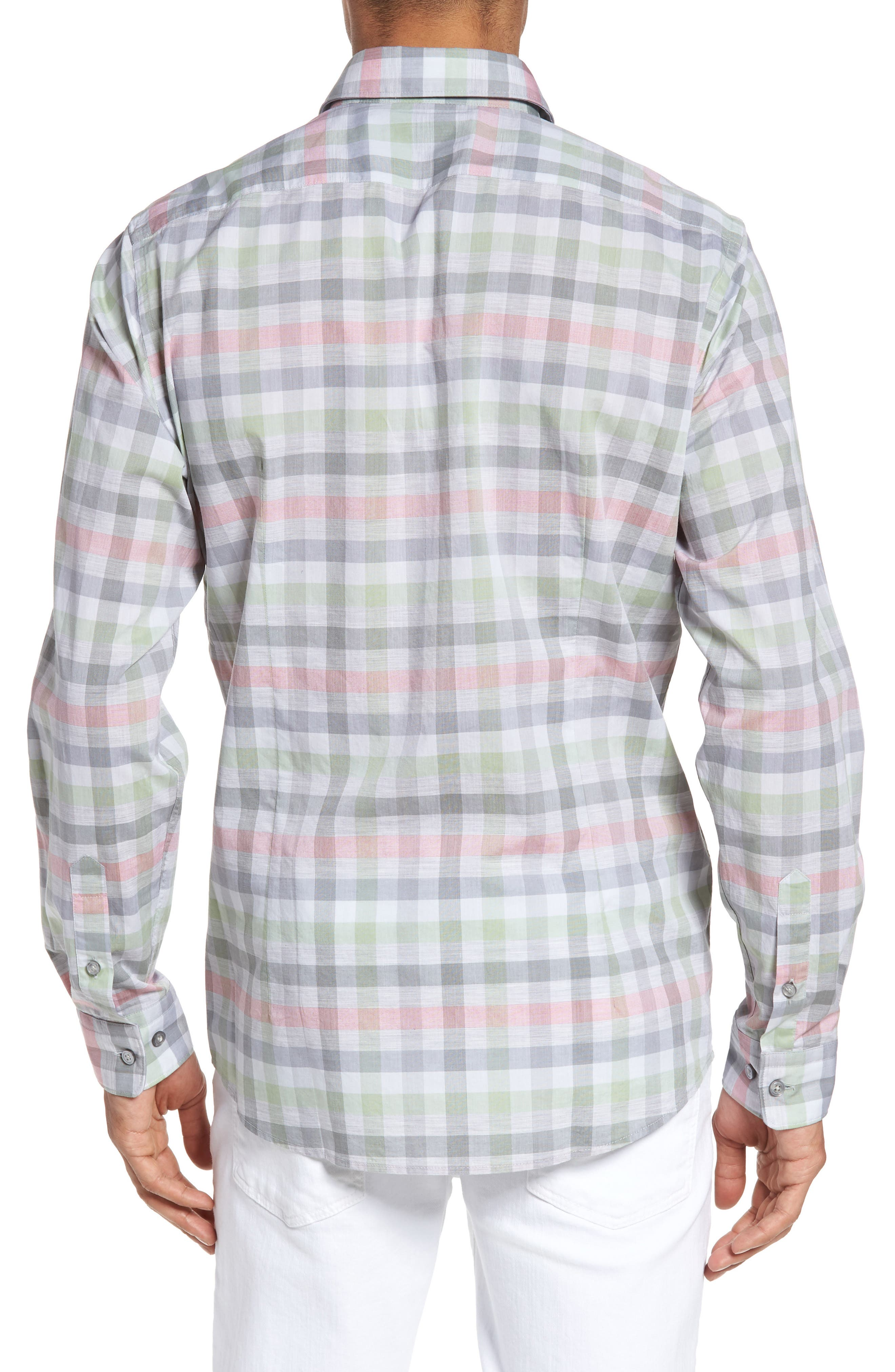 BOSS,                             Lukas Regular Fit Plaid Sport Shirt,                             Alternate thumbnail 2, color,                             302