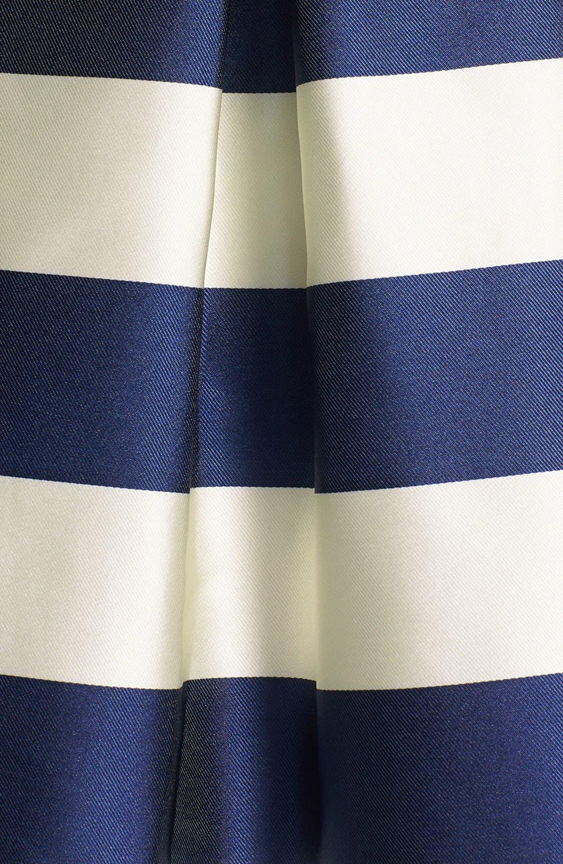 ELIZA J,                             Stripe Fit & Flare Dress,                             Alternate thumbnail 3, color,                             410