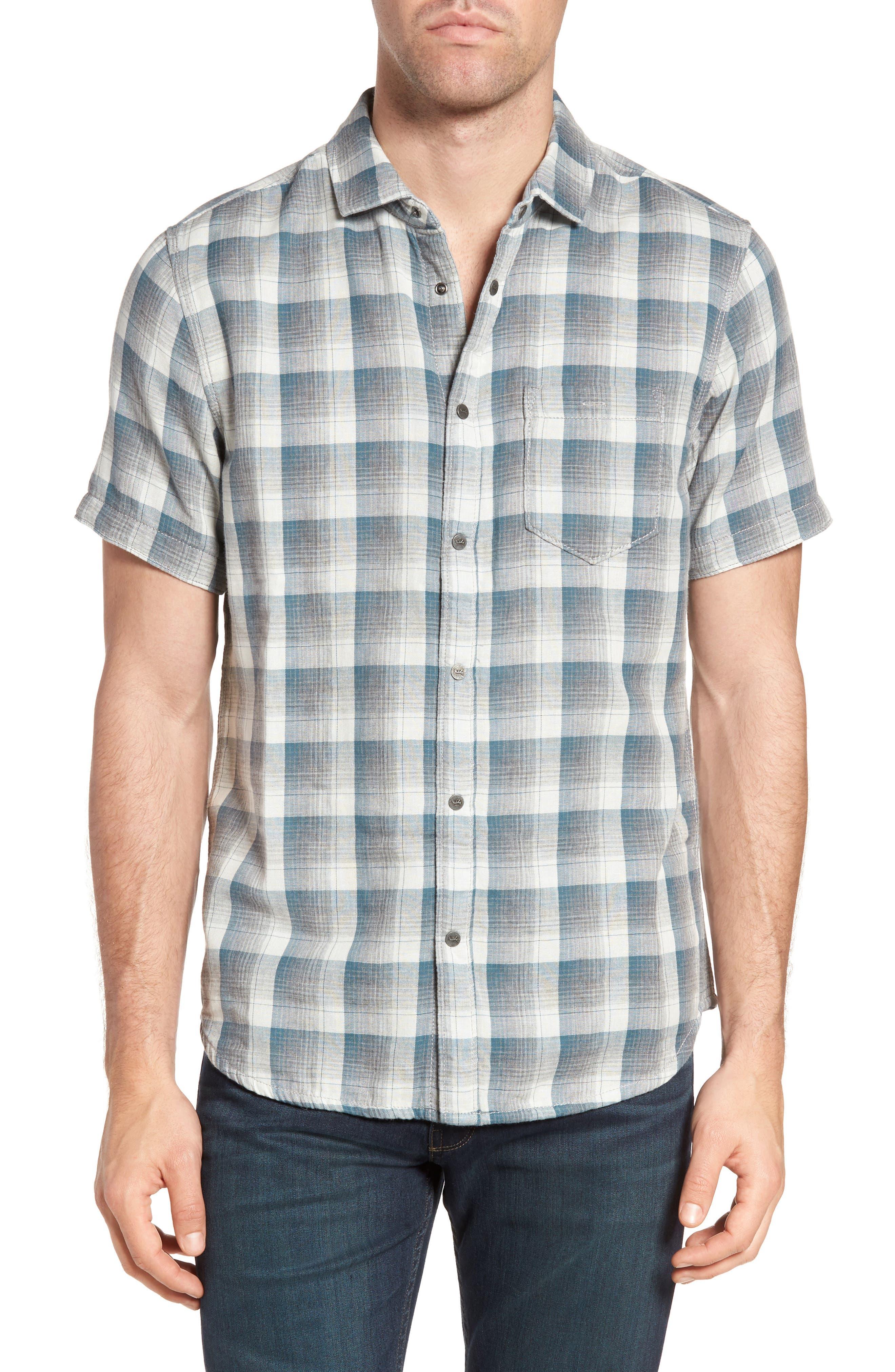Clark Regular Fit Reversible Plaid Sport Shirt,                         Main,                         color, 406