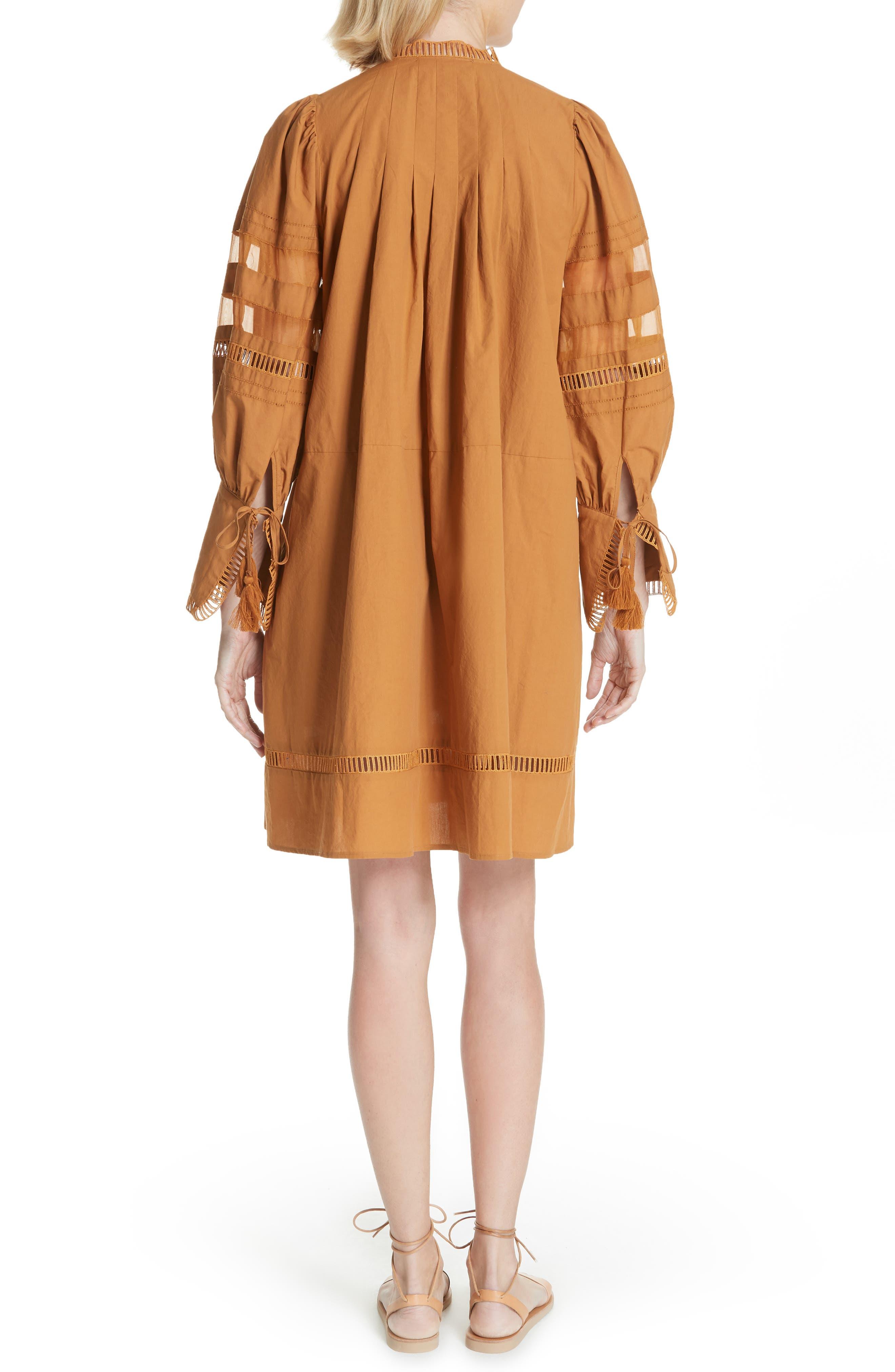 Capri Ladder Stitch Trim Dress,                             Alternate thumbnail 2, color,                             205