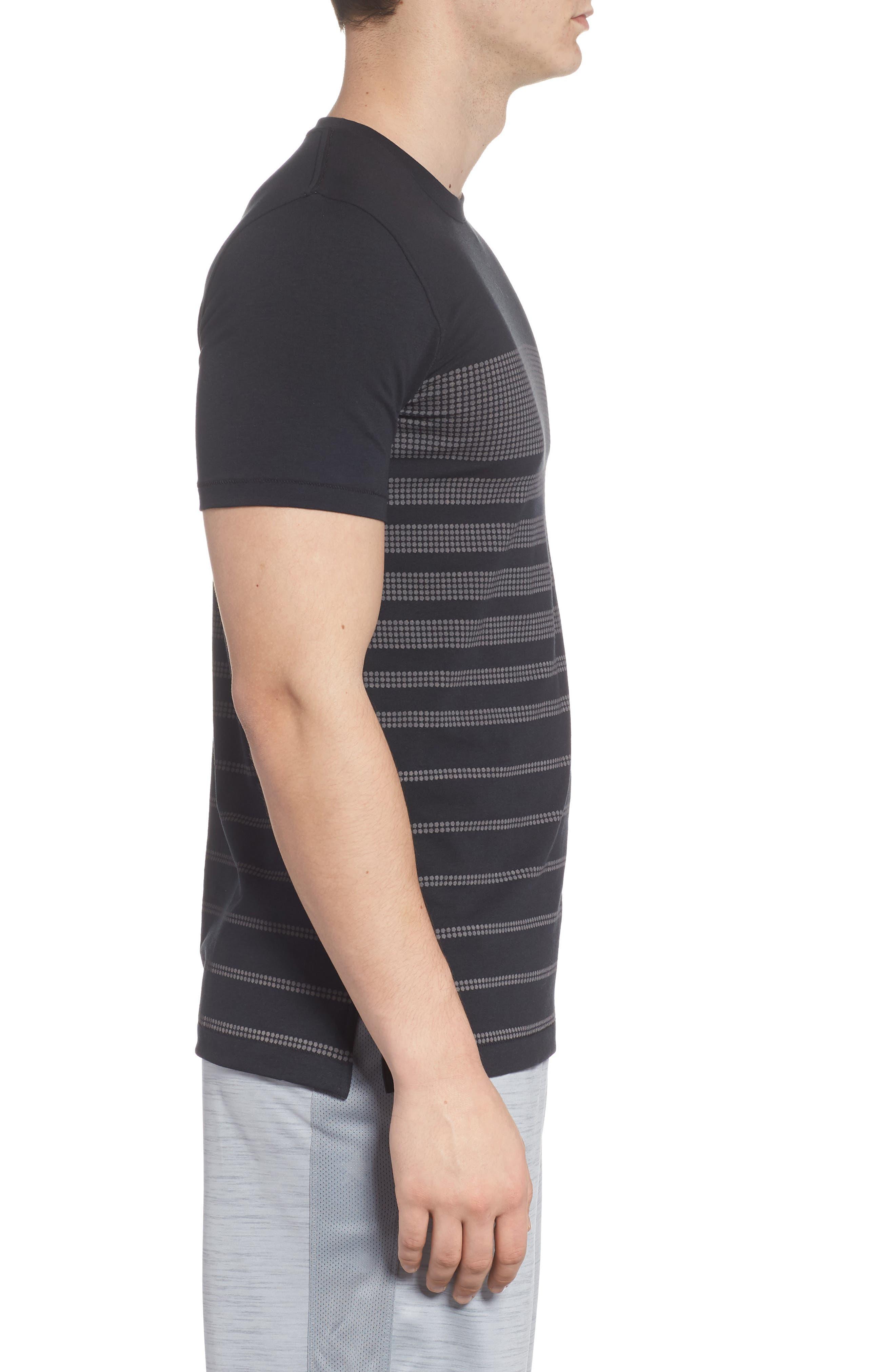 Sportstyle Crewneck T-Shirt,                             Alternate thumbnail 3, color,                             001