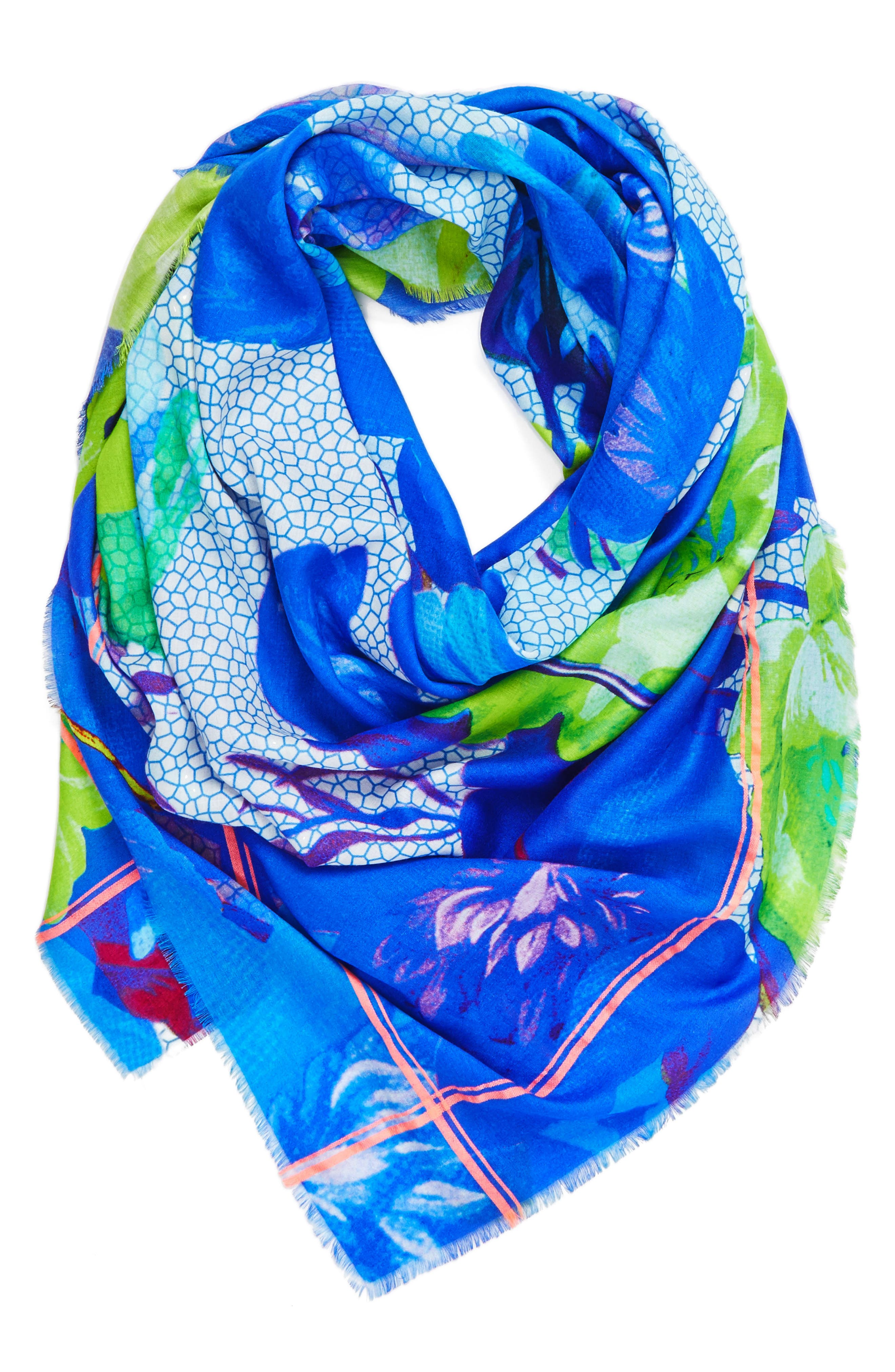 Botanica Square Scarf,                             Alternate thumbnail 2, color,                             400