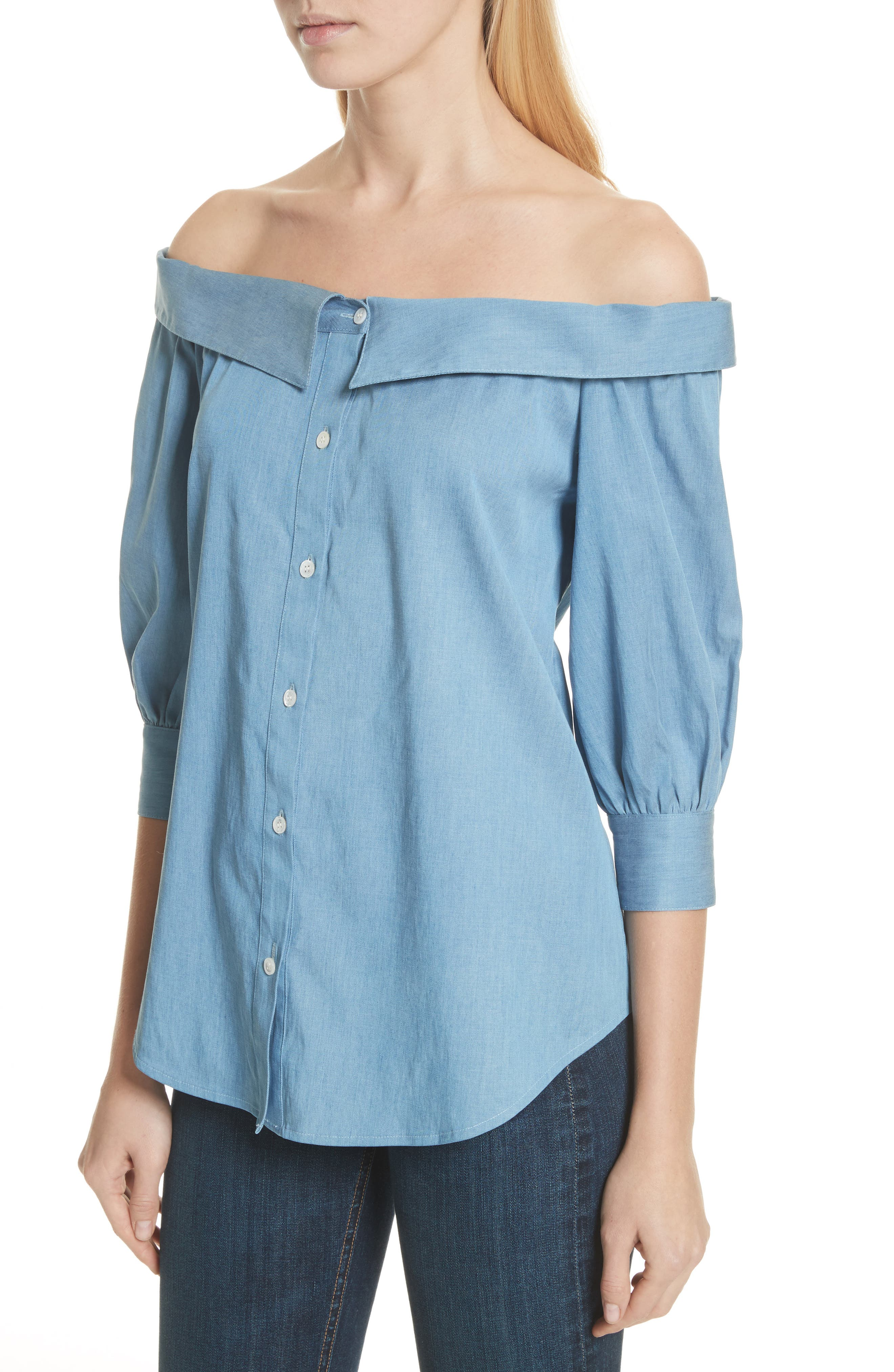 Britta Off the Shoulder Top,                             Alternate thumbnail 4, color,                             423
