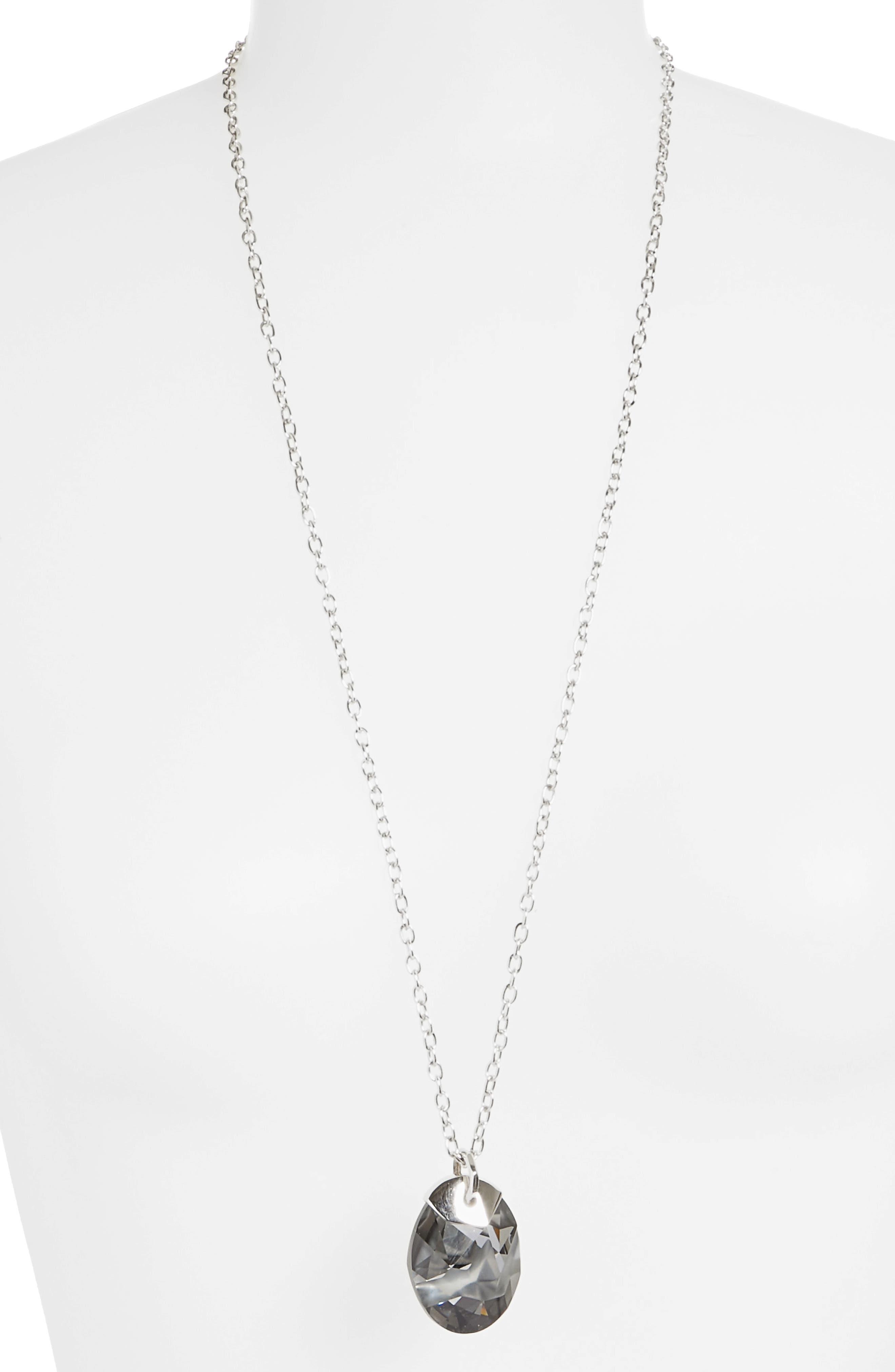 Swarovski Crystal Pendant Necklace,                             Alternate thumbnail 2, color,                             020
