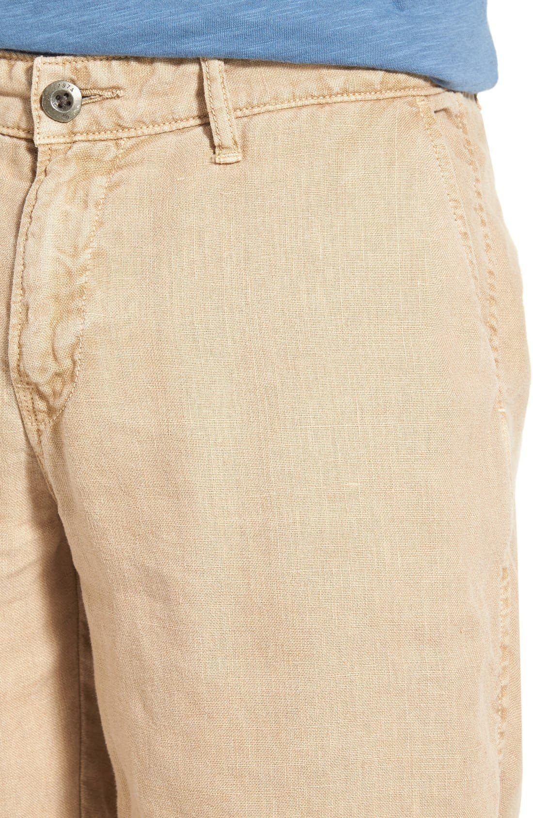 'Havana' Linen Shorts,                             Alternate thumbnail 14, color,
