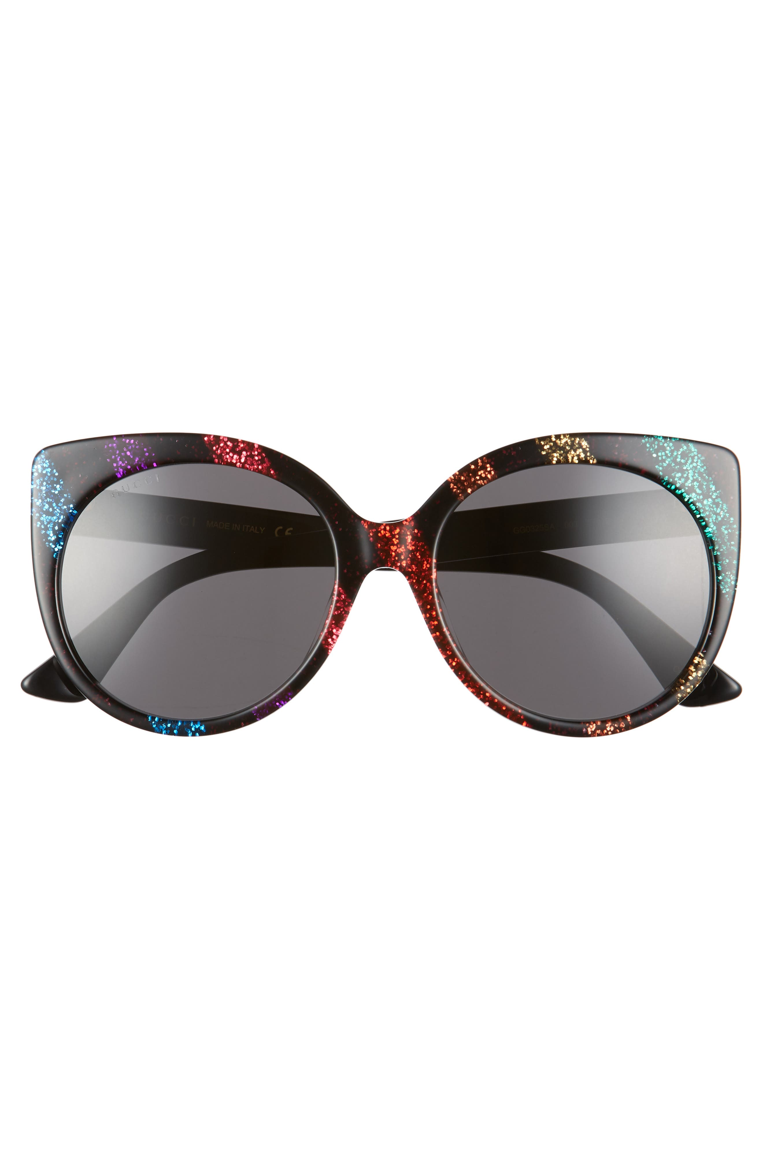 57mm Cat Eye Sunglasses,                             Alternate thumbnail 3, color,                             010
