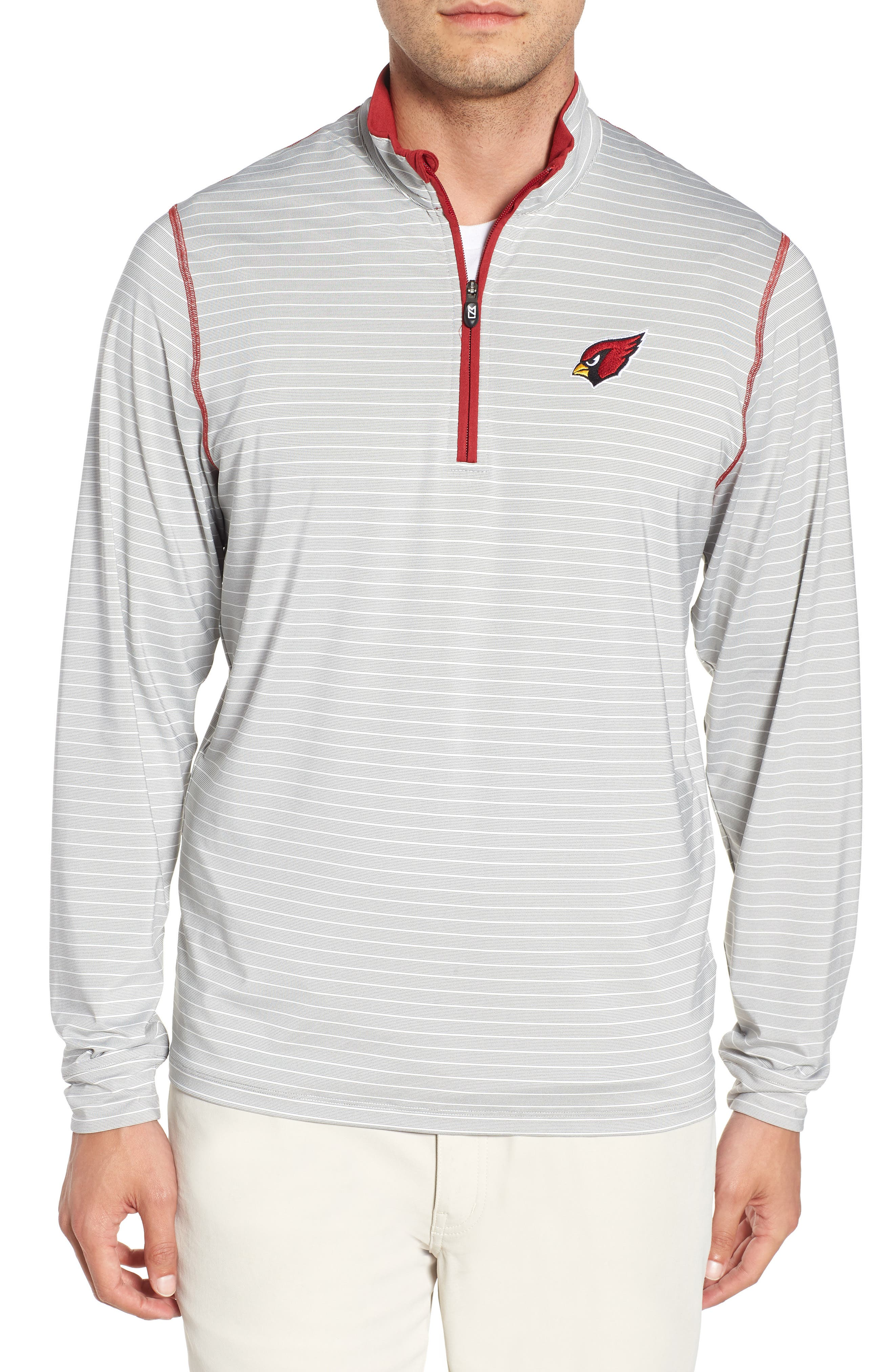 Meridian - Arizona Cardinals Regular Fit Half Zip Pullover,                         Main,                         color, CARDINAL RED