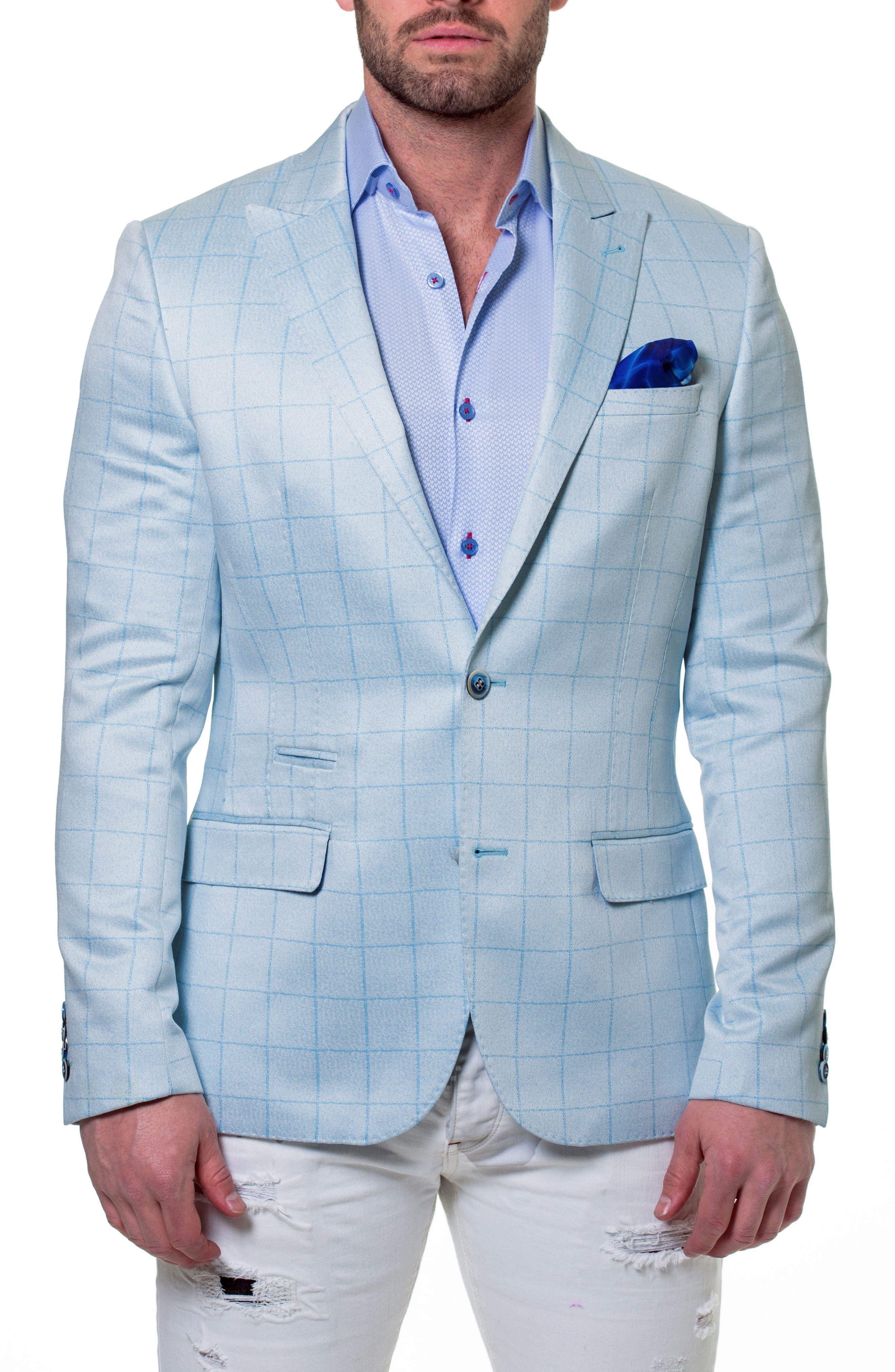 Elegance Check Windowpane Sport Coat,                             Main thumbnail 1, color,                             420