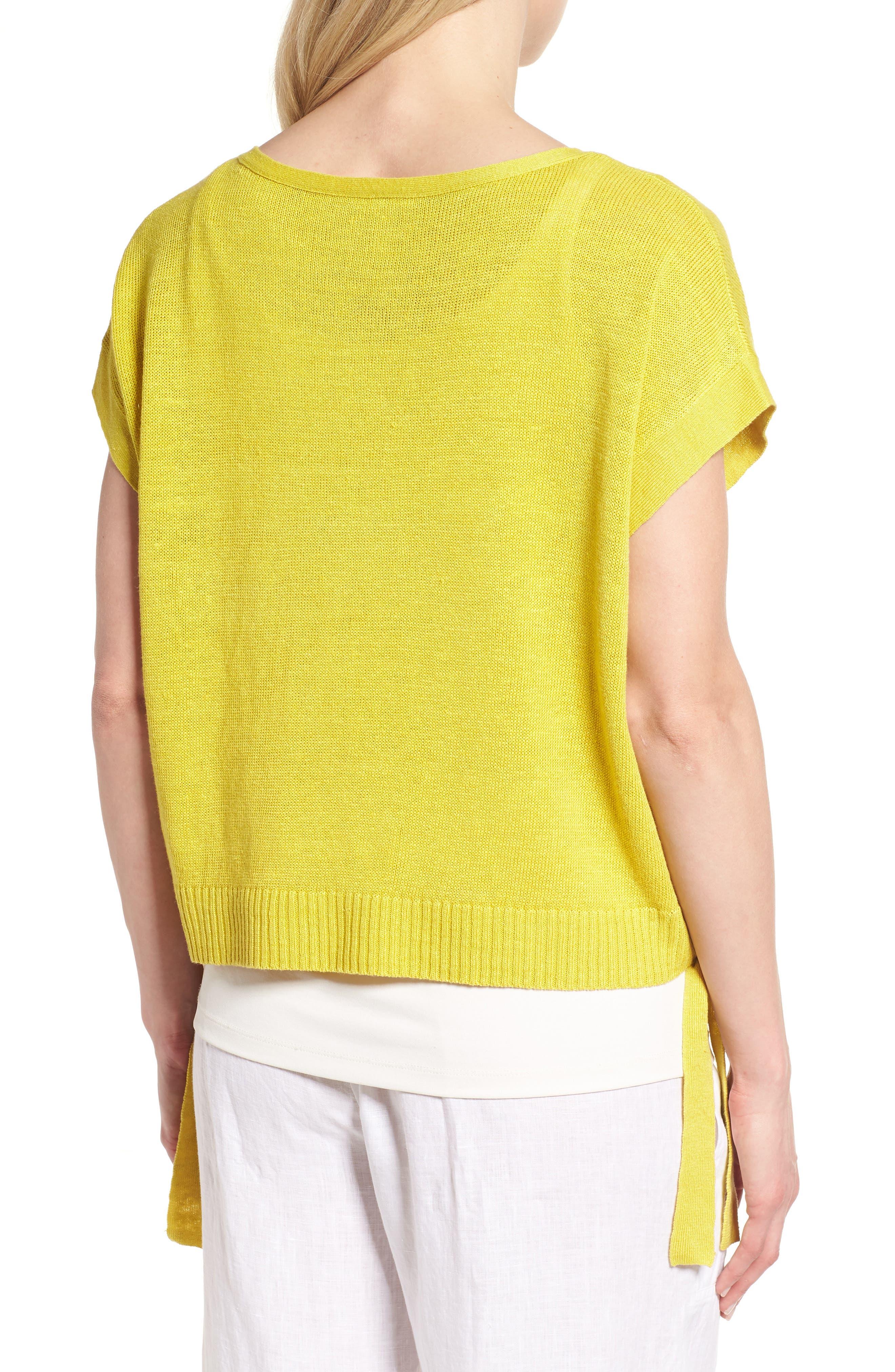 Short Organic Linen Poncho Top,                             Alternate thumbnail 11, color,
