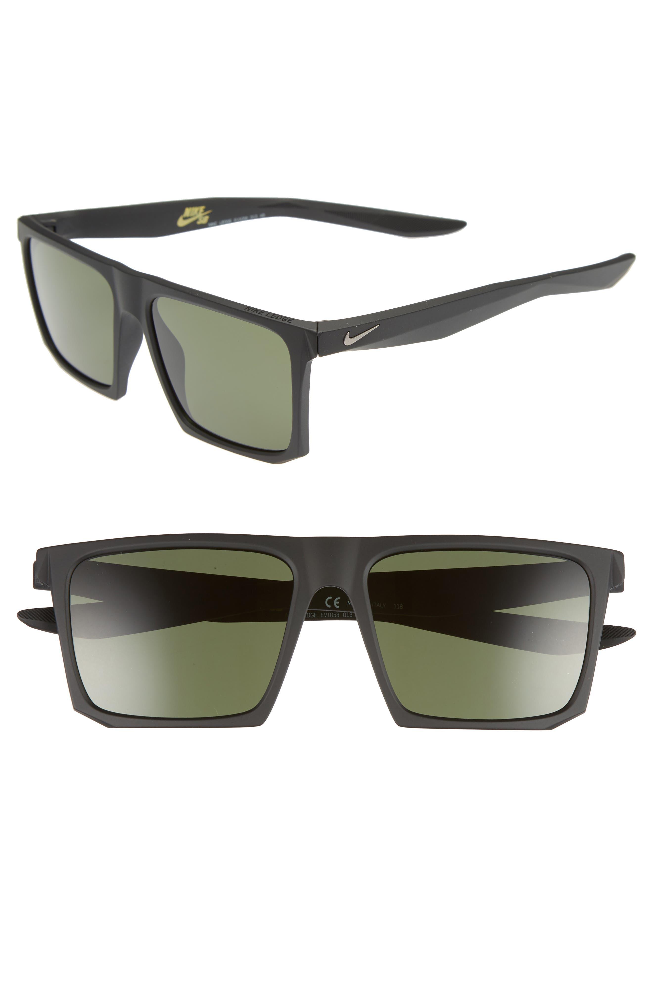 Nike Ledge 5m Sunglasses - Matte Black/ Green