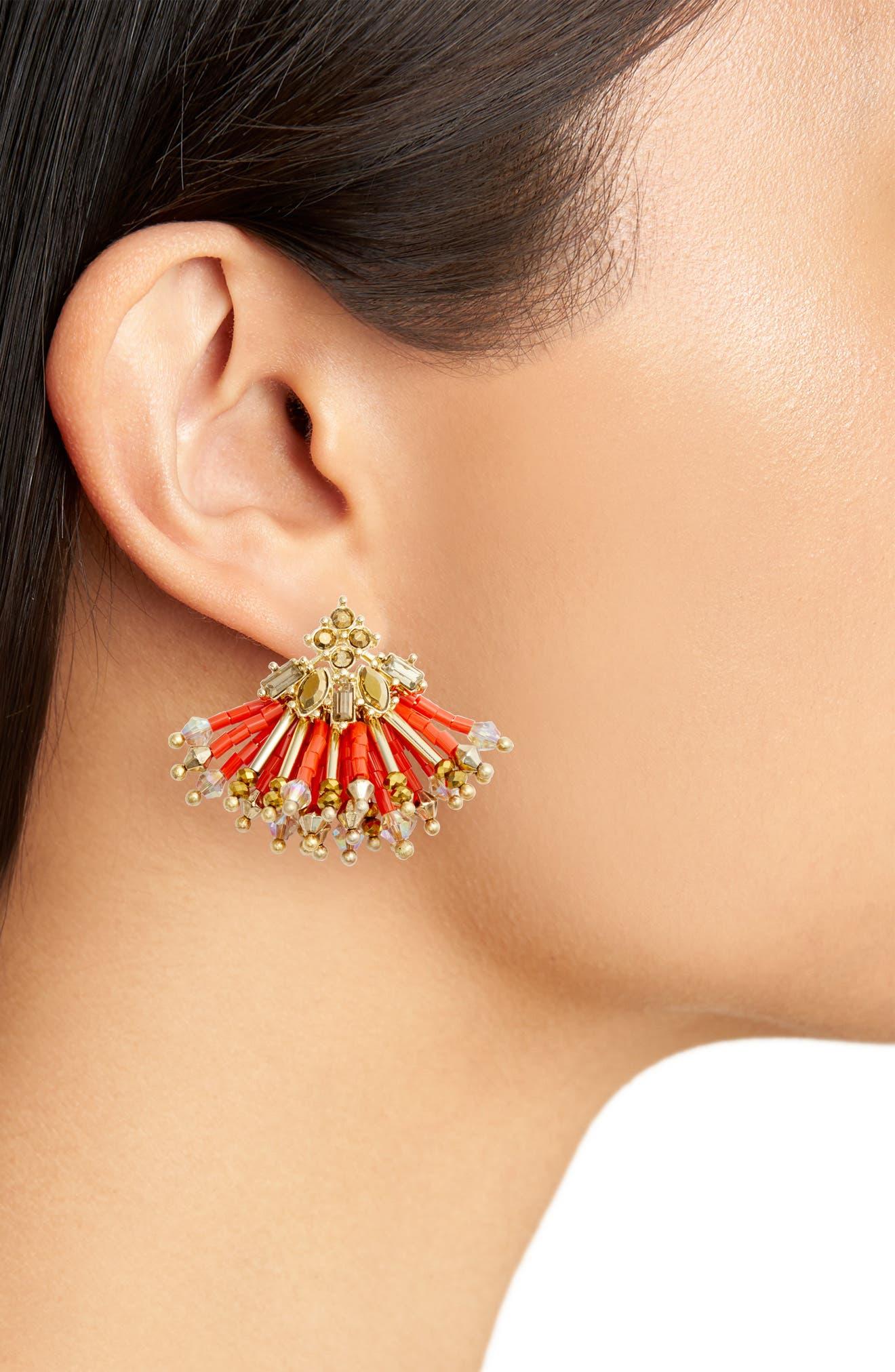 Multibead Fan Earrings,                             Alternate thumbnail 6, color,
