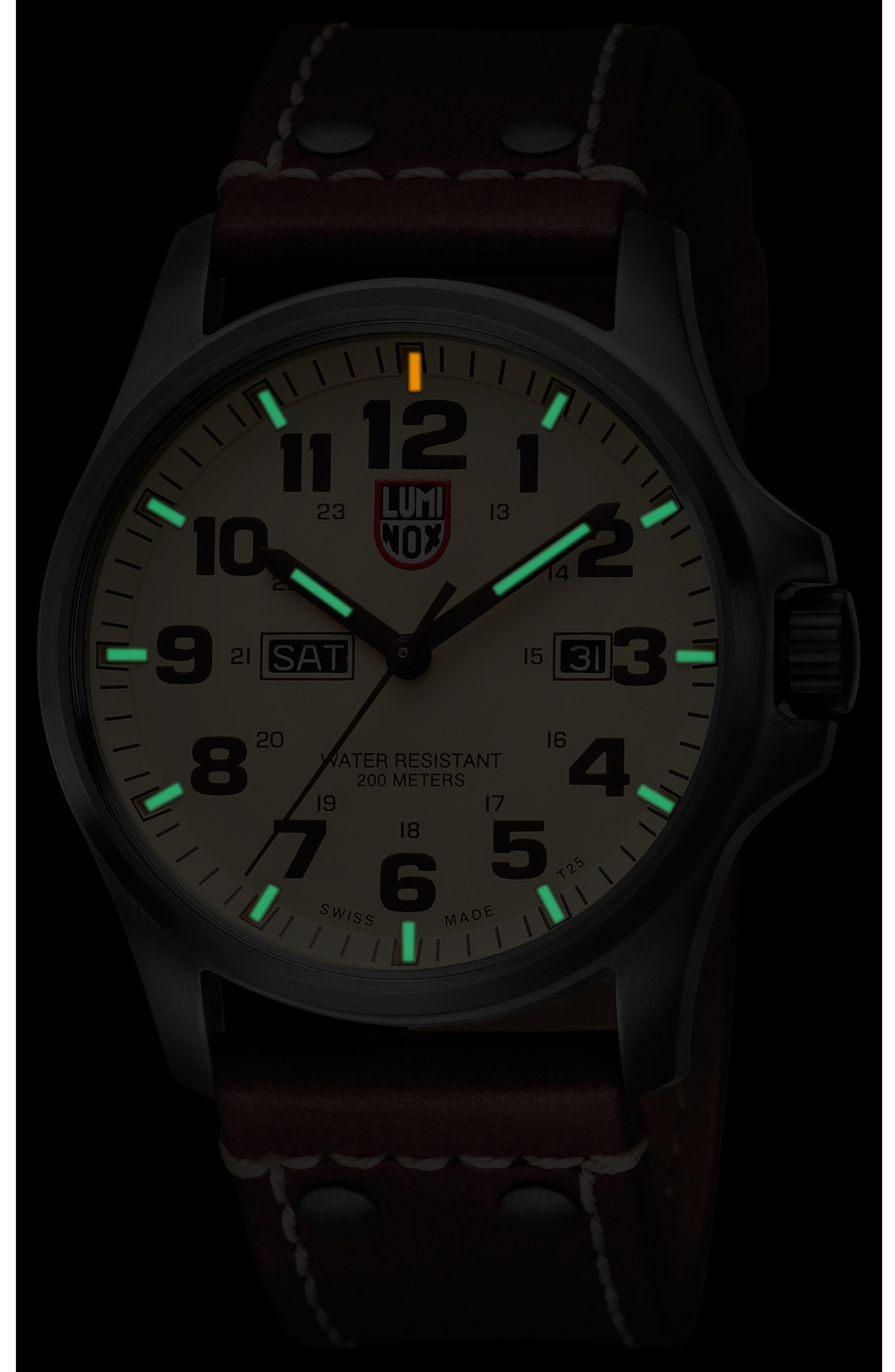 'Land - Atacama Field' Leather Strap Watch, 45mm,                             Alternate thumbnail 10, color,
