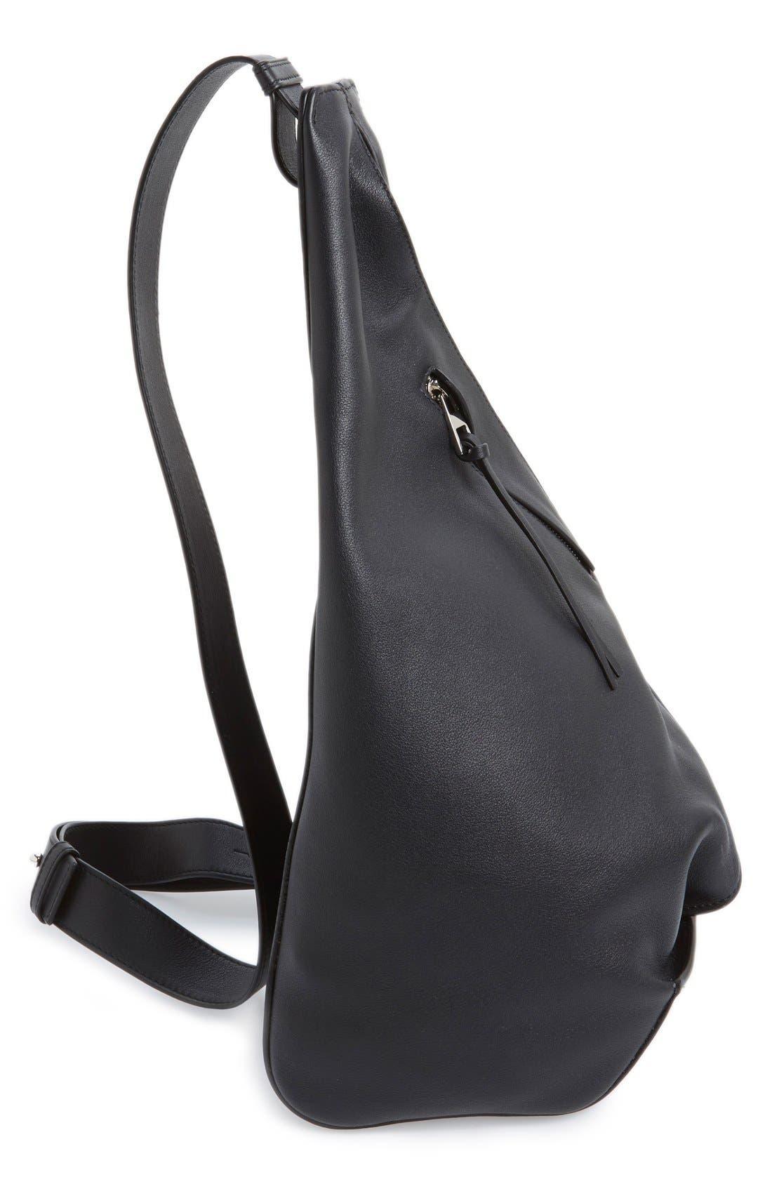 'Small Anton' Calfskin Leather Sling Bag,                             Alternate thumbnail 2, color,                             001