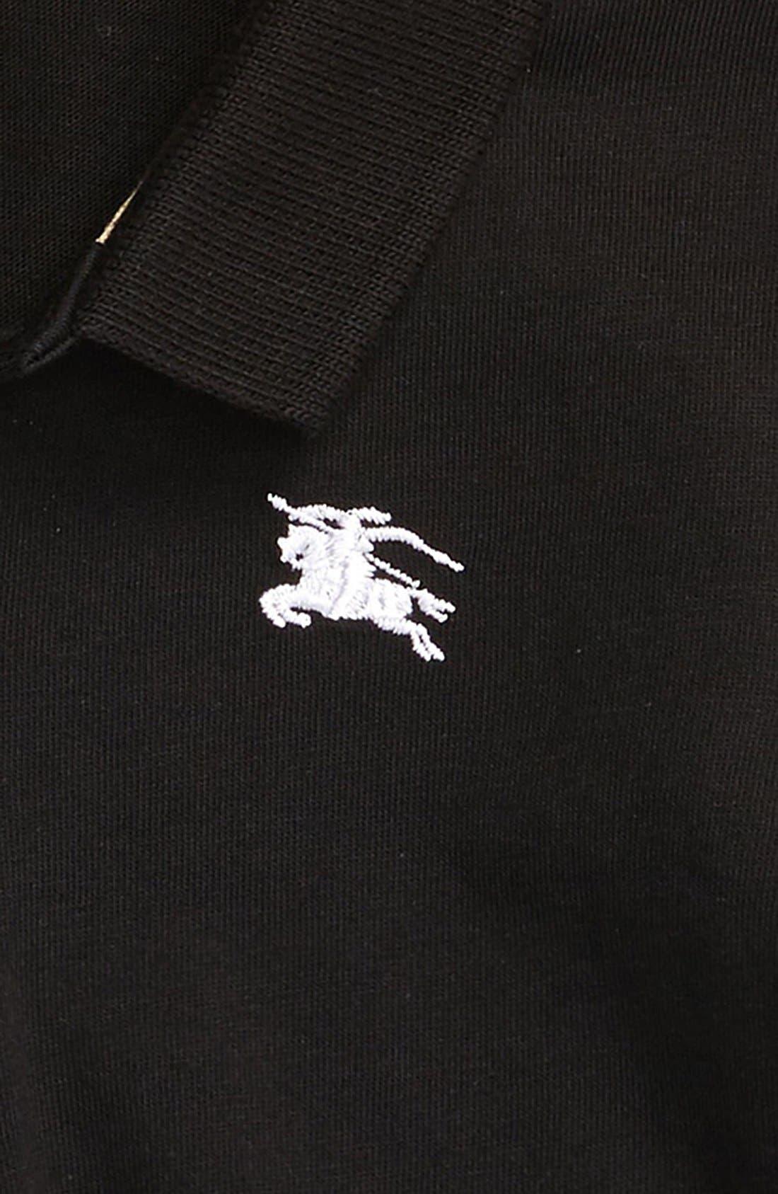 'Palmer' Long Sleeve Polo,                             Alternate thumbnail 2, color,                             001