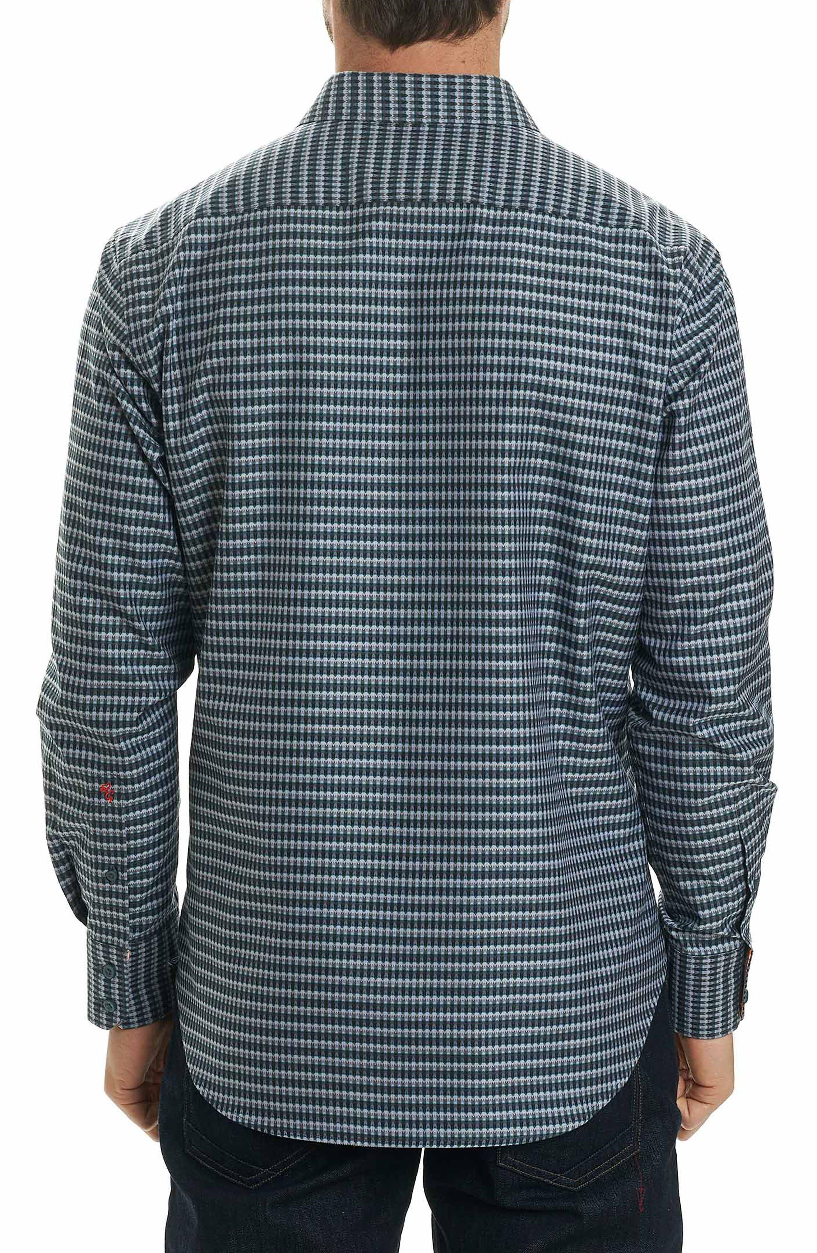 Hill Punch Classic Fit Print Sport Shirt,                             Alternate thumbnail 3, color,