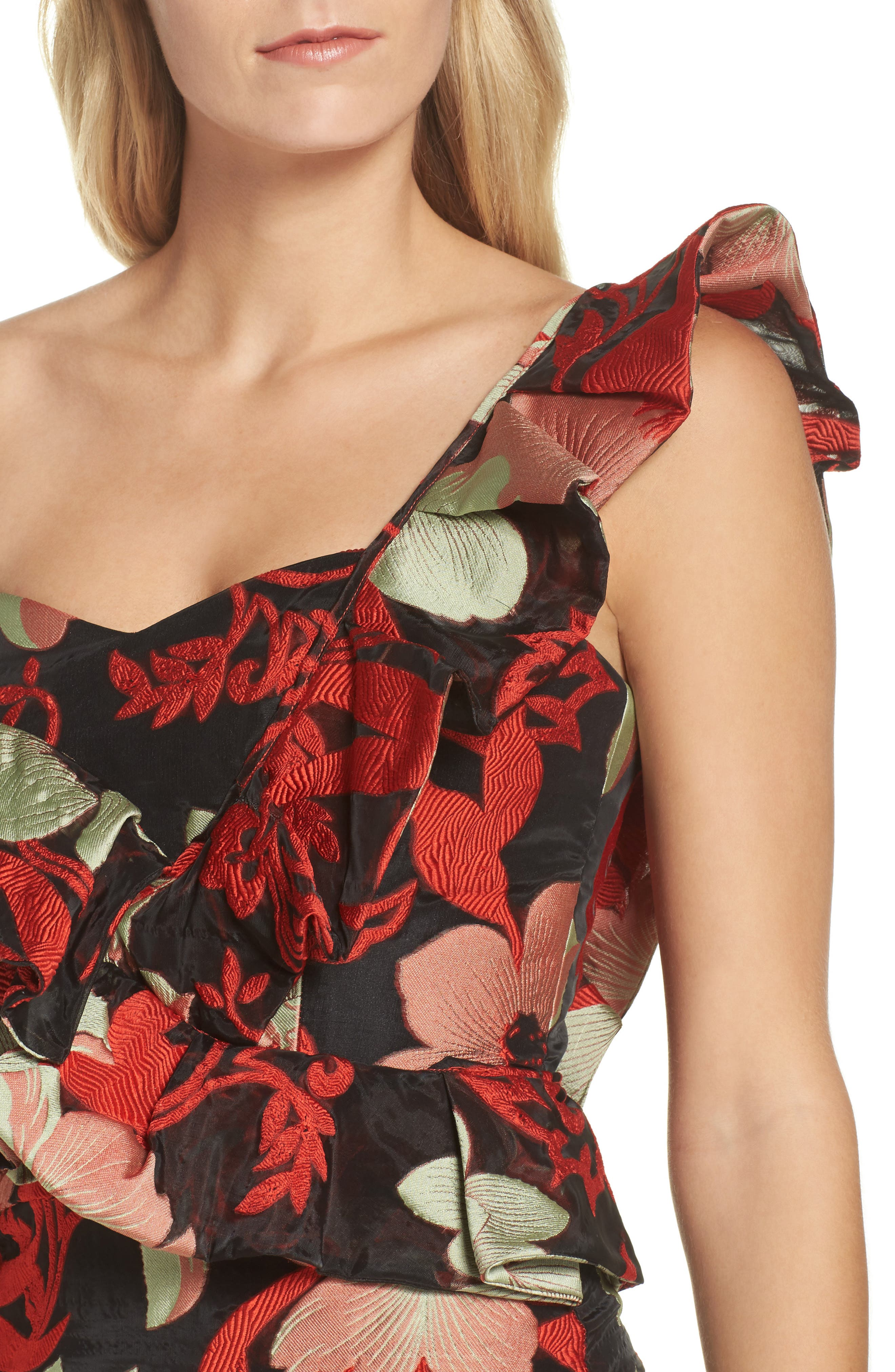 Katalina One-Shoulder Midi Dress,                             Alternate thumbnail 4, color,