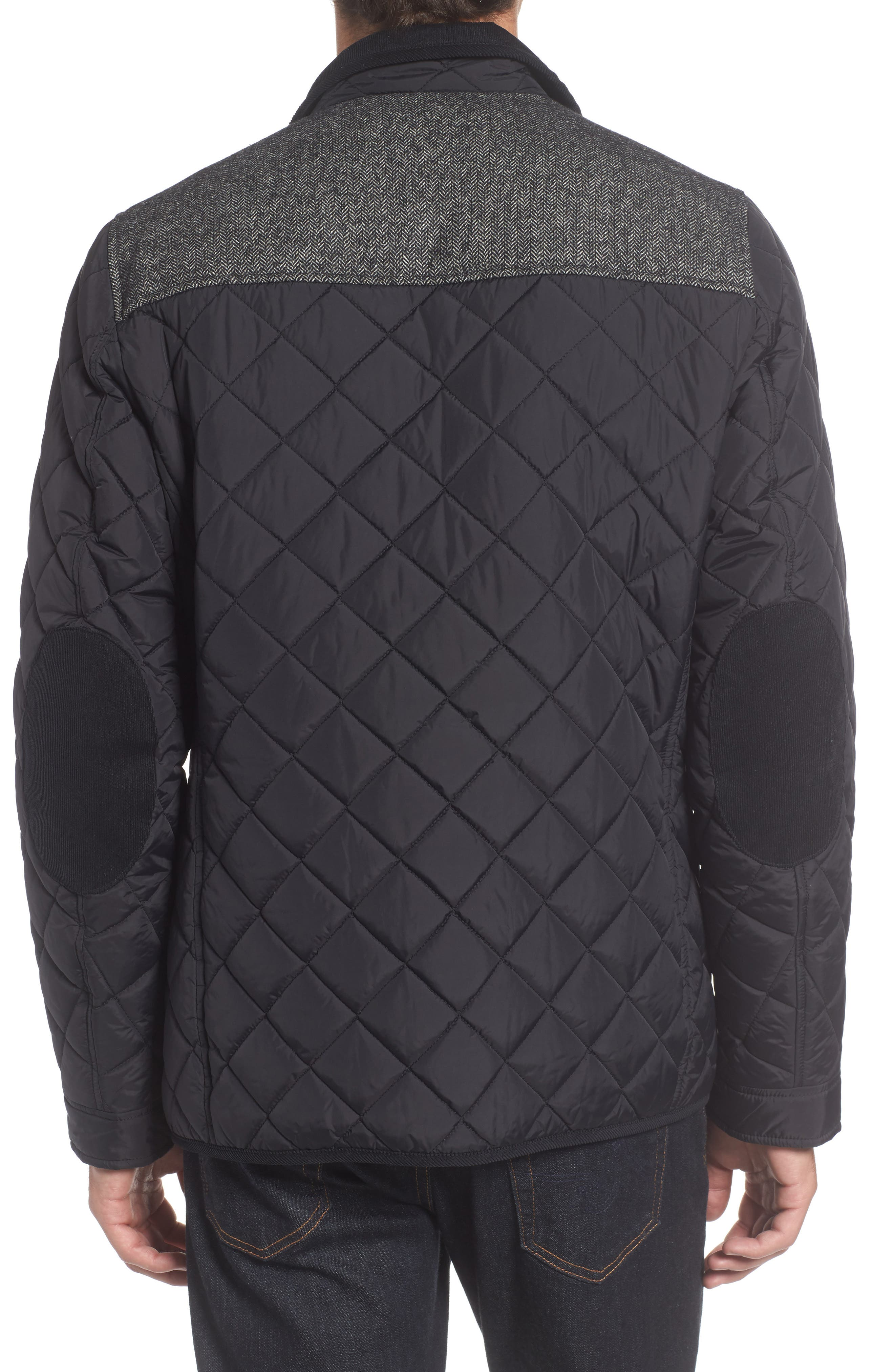 Diamond Quilted Full Zip Jacket,                             Alternate thumbnail 6, color,